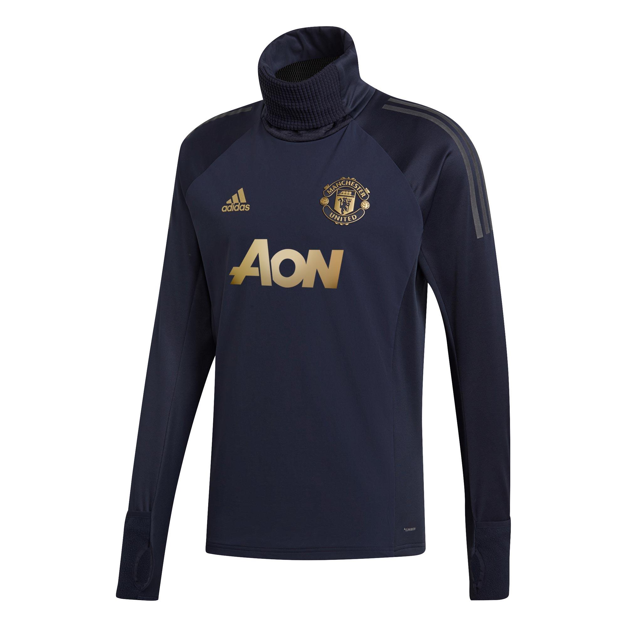 Haut coupe-vent d'entraînement UCL Manchester United - Bleu marine