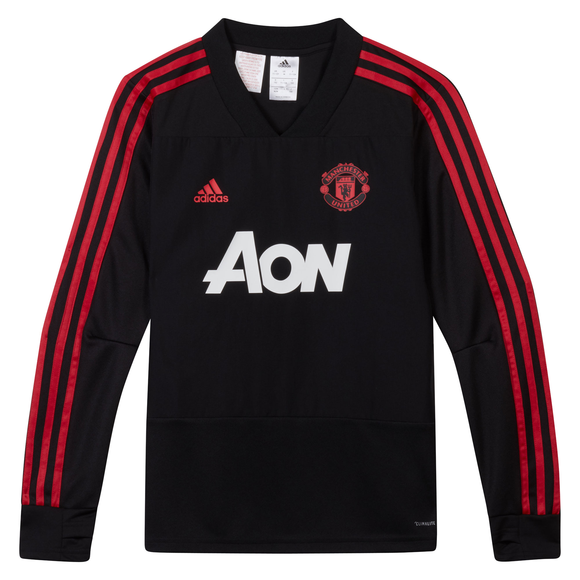 Football Manchester United Training Top - Black - Kids