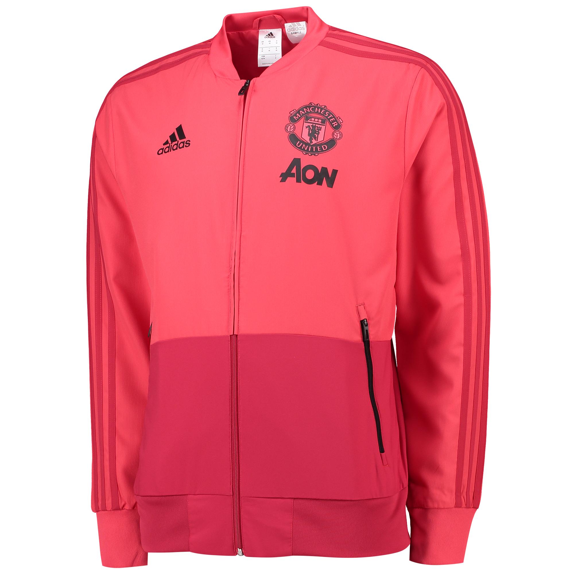 Chaqueta Presentation de entrenamiento del Manchester United en rosa