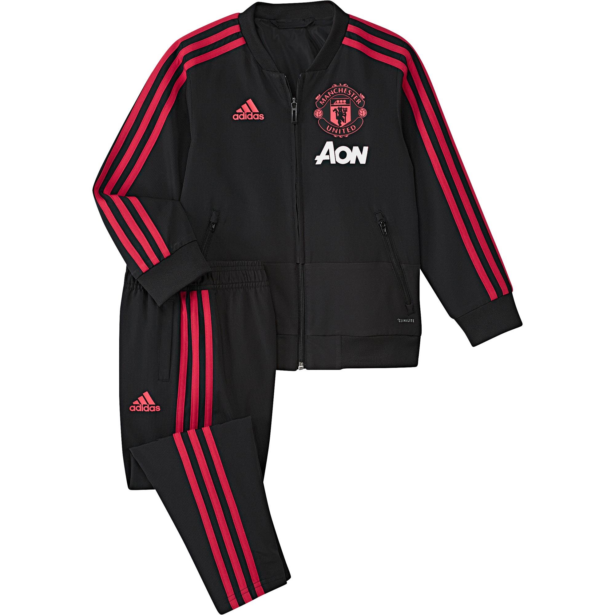 Survêtement de présentation Manchester United - Noir - Enfant