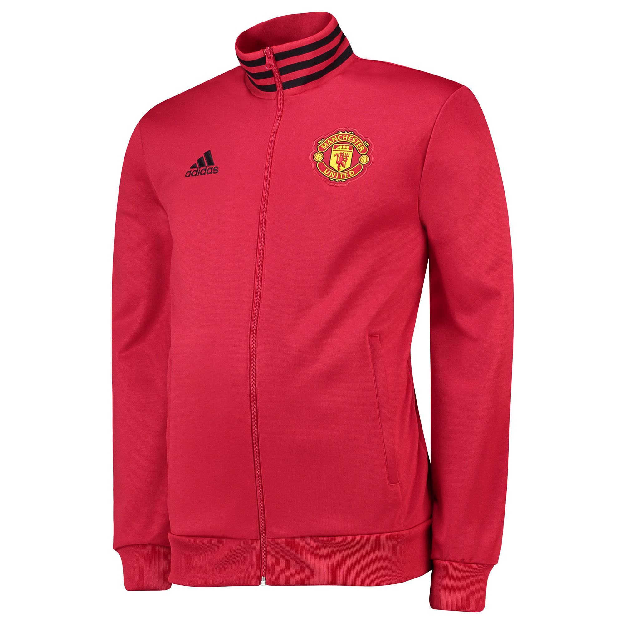 Veste de survêtement à 3bandes Manchester United - Rouge