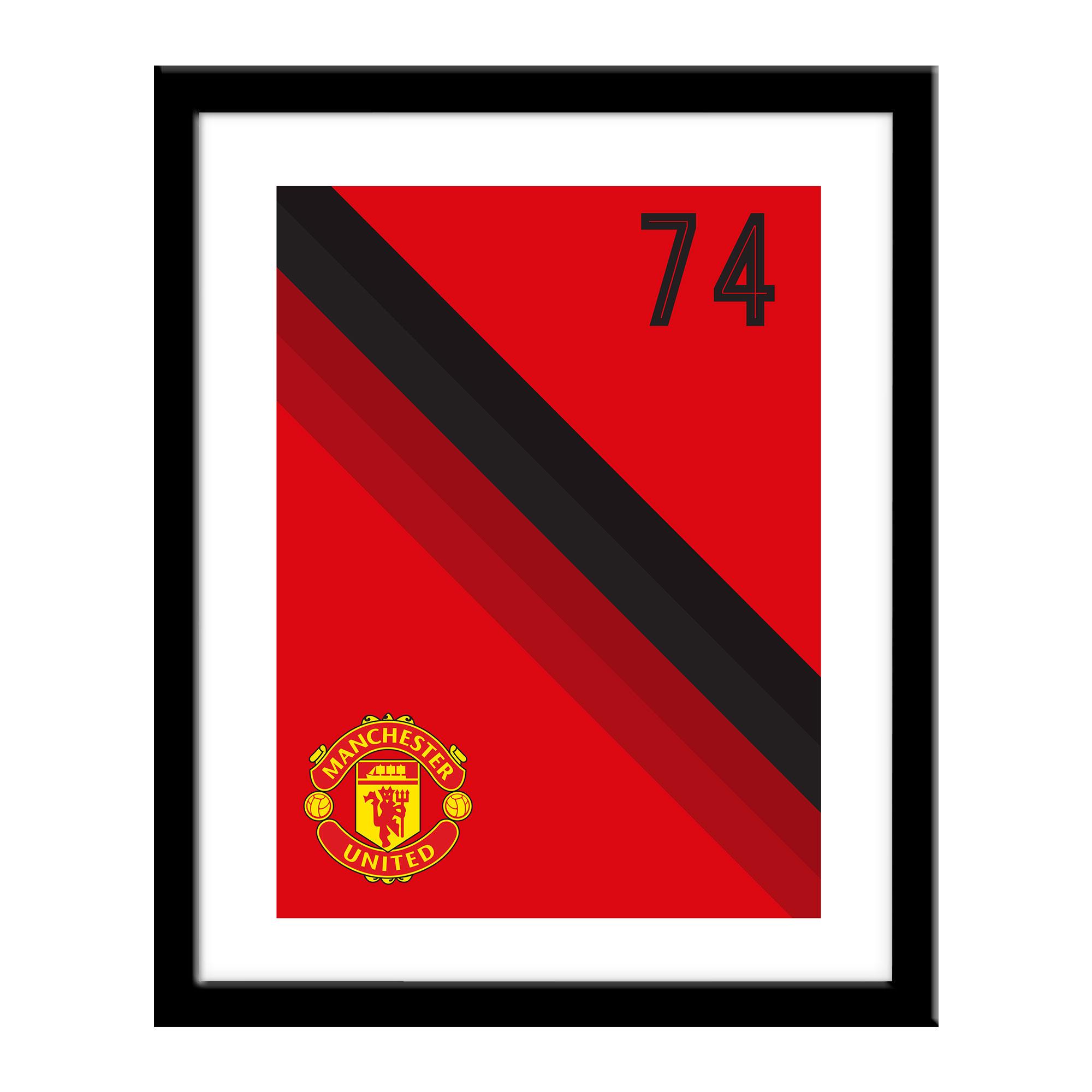 Cartel con franja del Manchester United