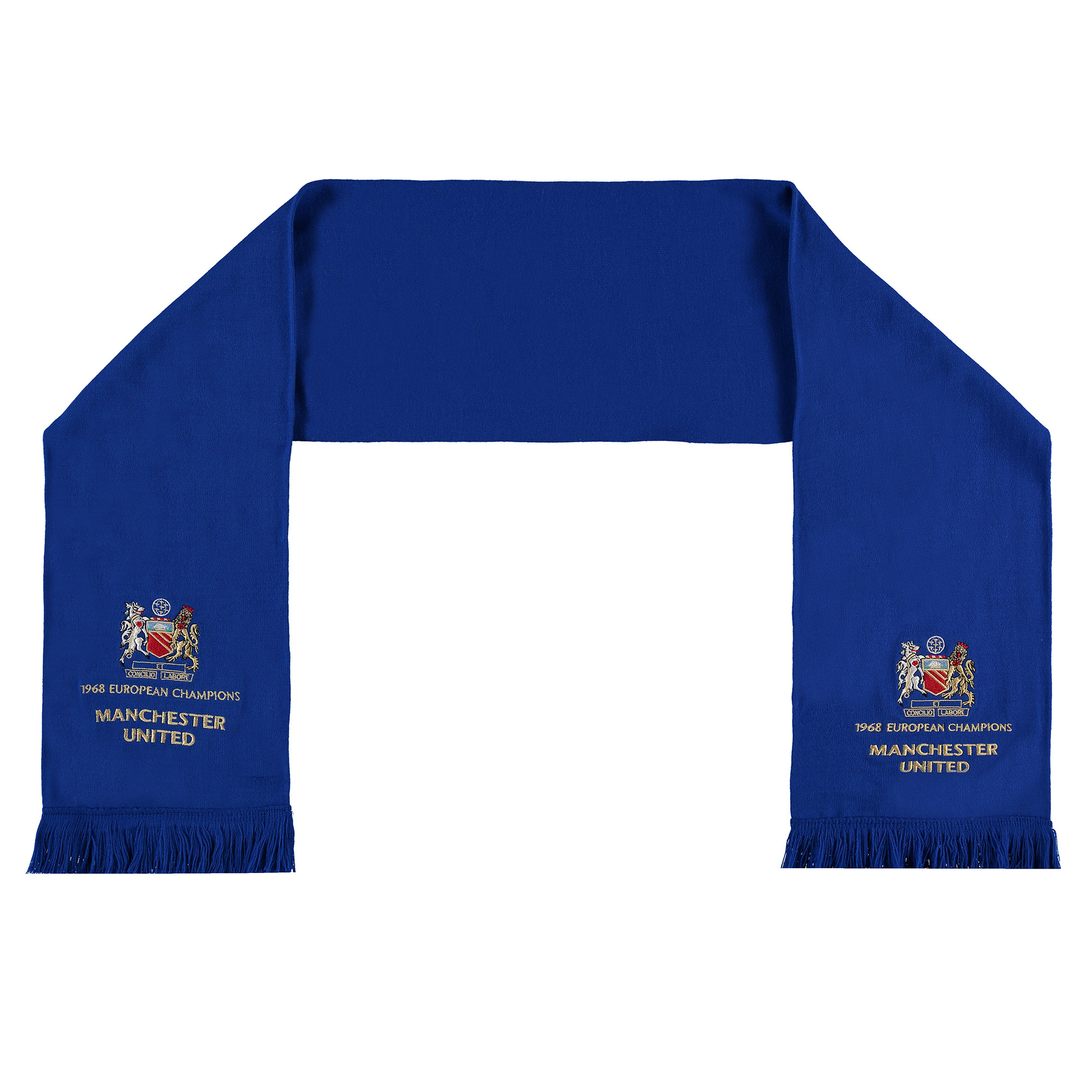 Écharpe 50e anniversaire Finale Coupe d'Europe 1968 Manchester United - Bleu royal