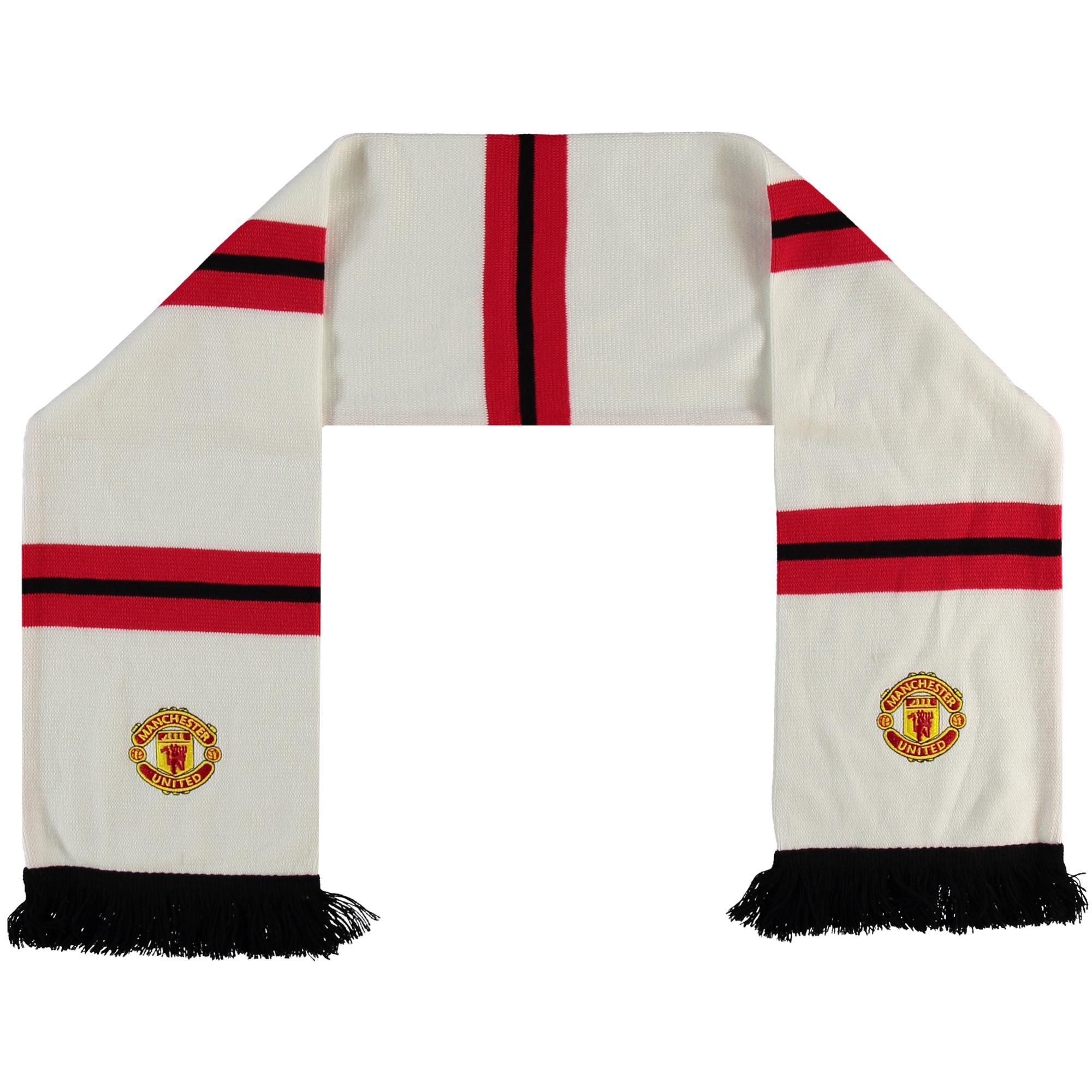 MU Raml Limited Bufanda Bar con el escudo del Manchester United en blanco para adultos White