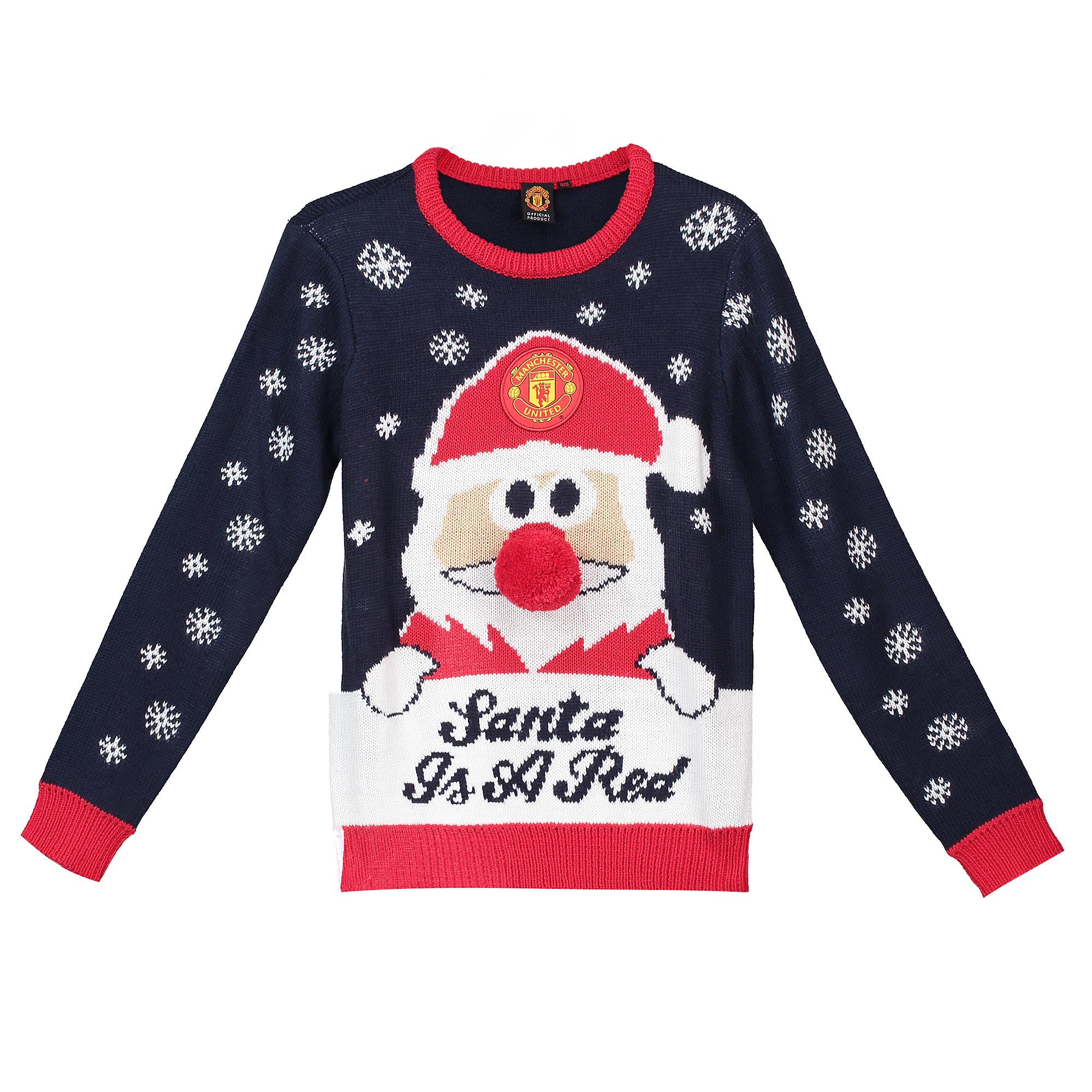 Pull Santa Christmas Manchester United - Marine -Junior