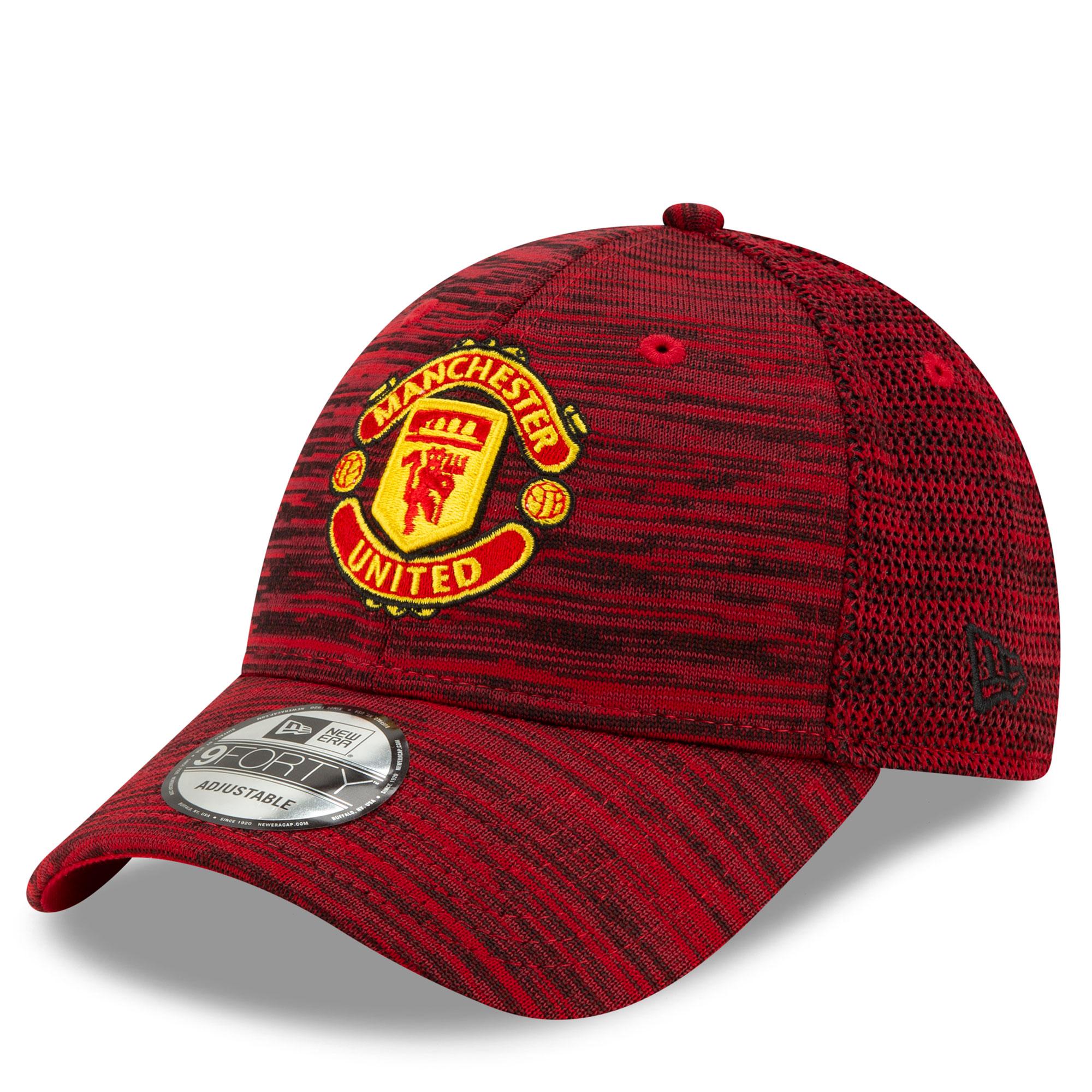 New Era Gorra regulable de diseño 9Forty del Manchester United de New Era en rojo para adultos Red