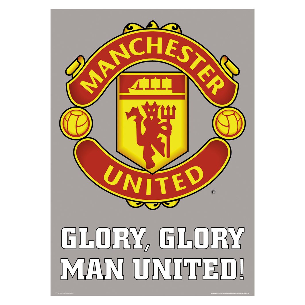 Manchester United Poster - Glory Glory - 61 x 92cm