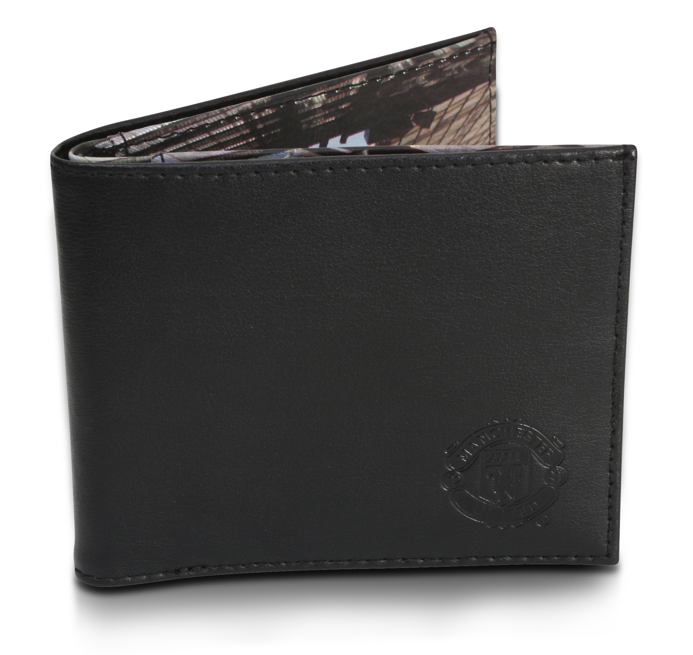 Manchester United Stadium Leather Wallet - Black