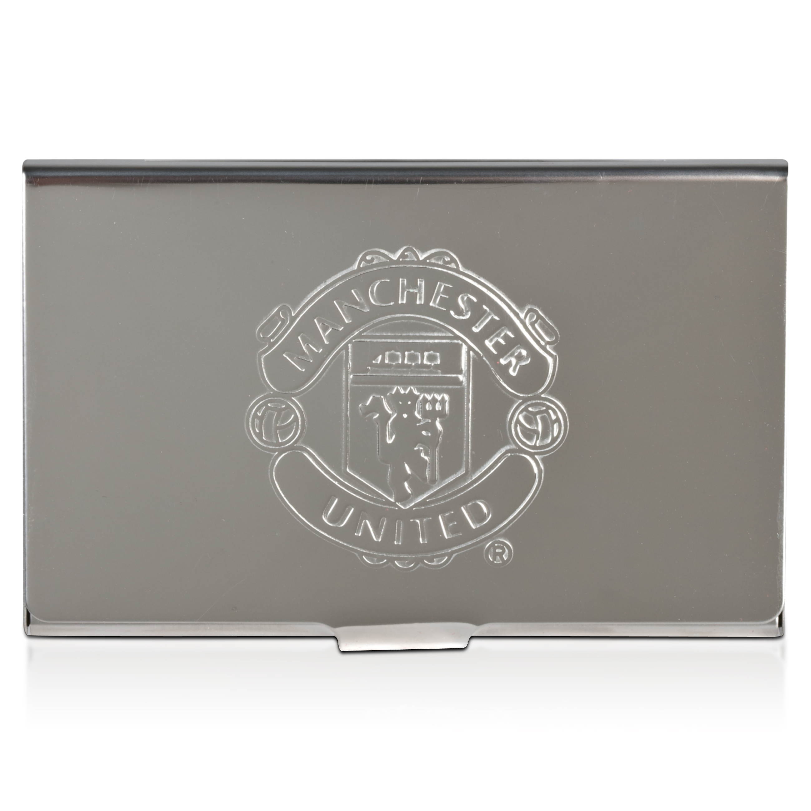 Manchester United Embossed Chrome Credit Card Holder