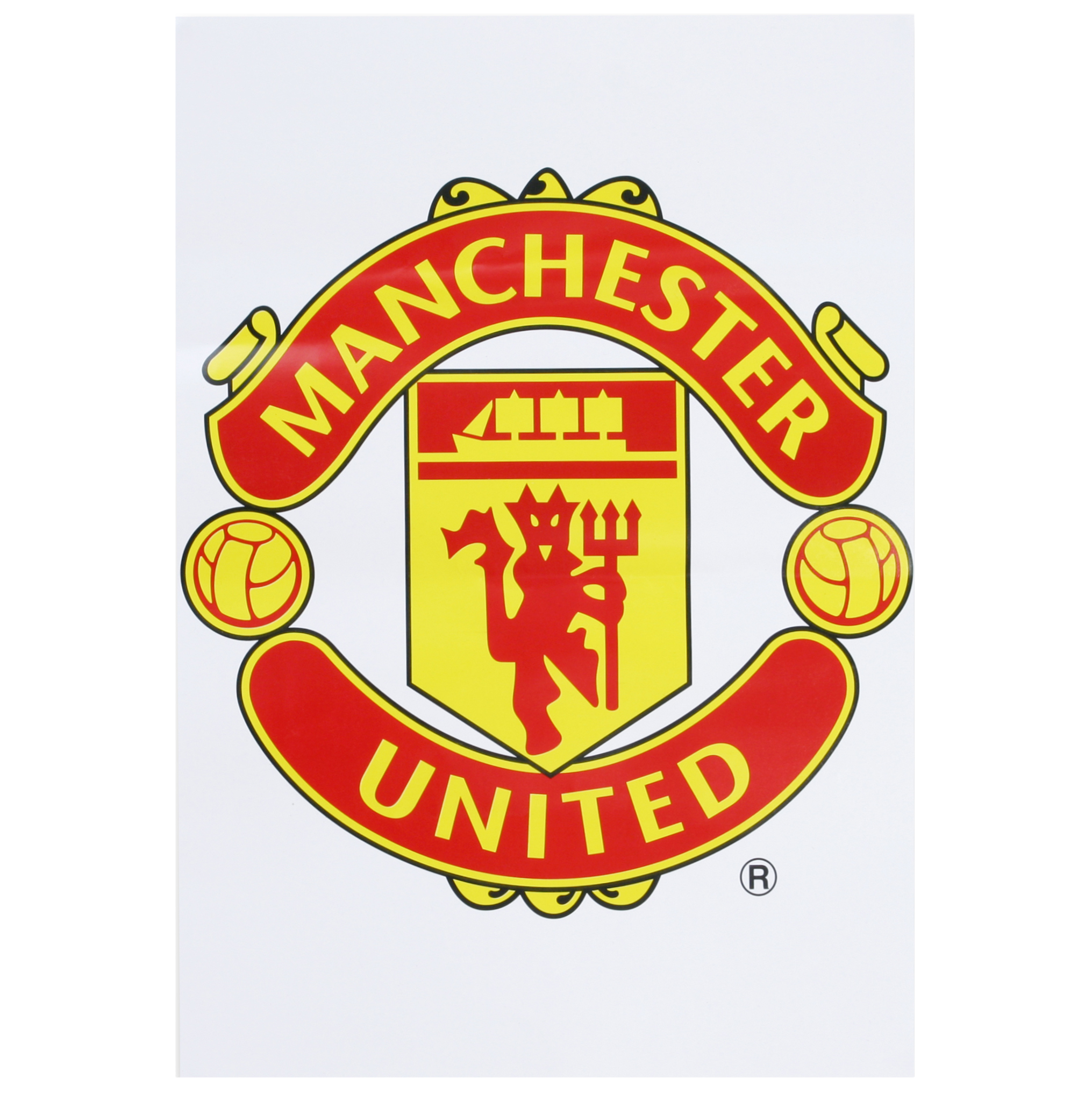 Manchester United A3 Crest Car Sticker
