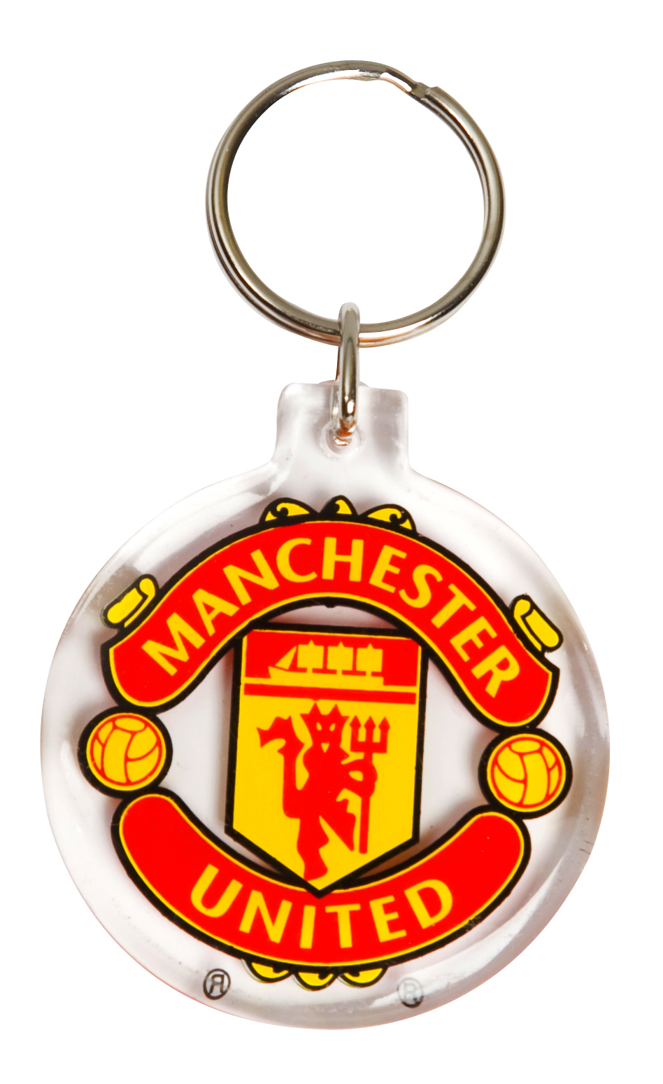 Manchester United Acrylic Crest Keyring