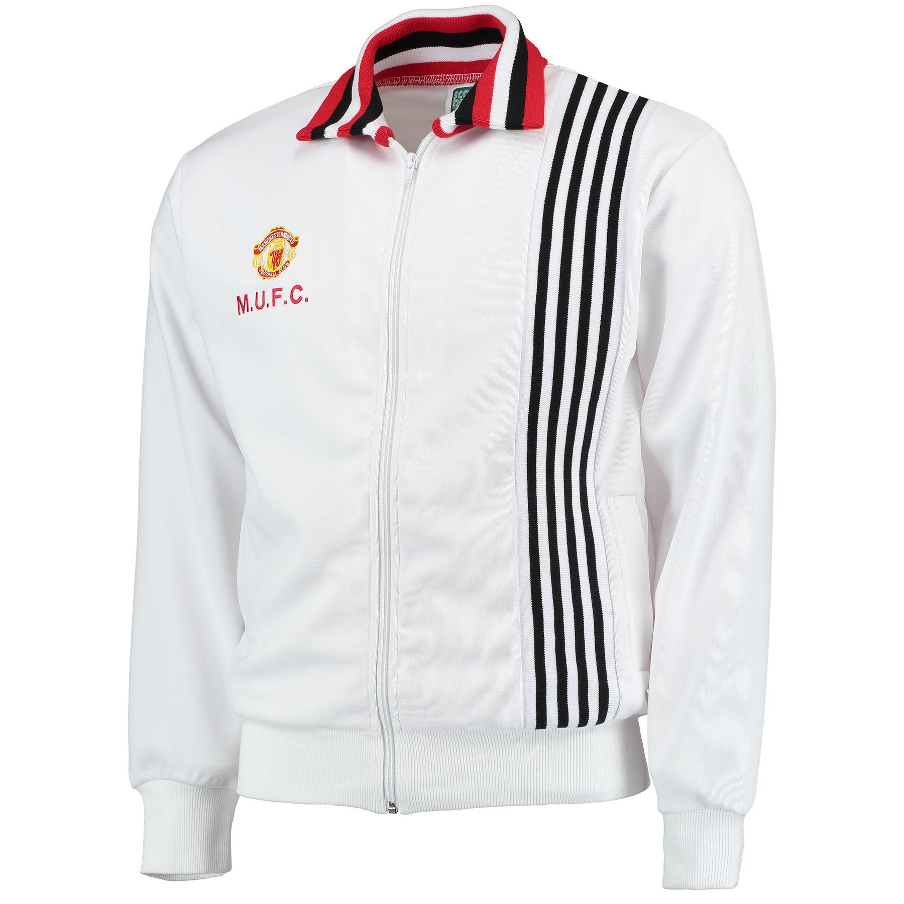 Manchester United 1977 Away Track Jacket - White