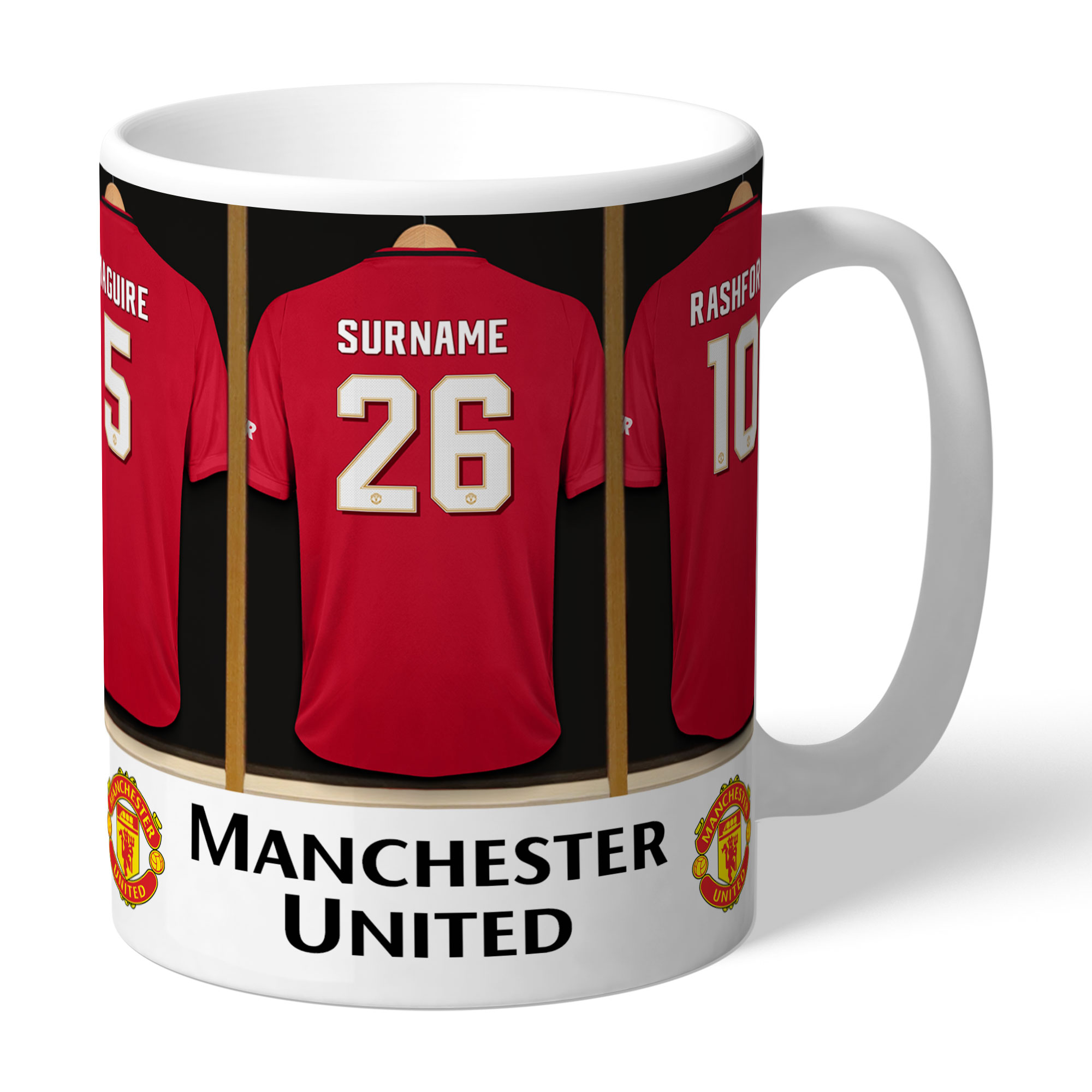 Manchester United Personalised Dressing Room Mug