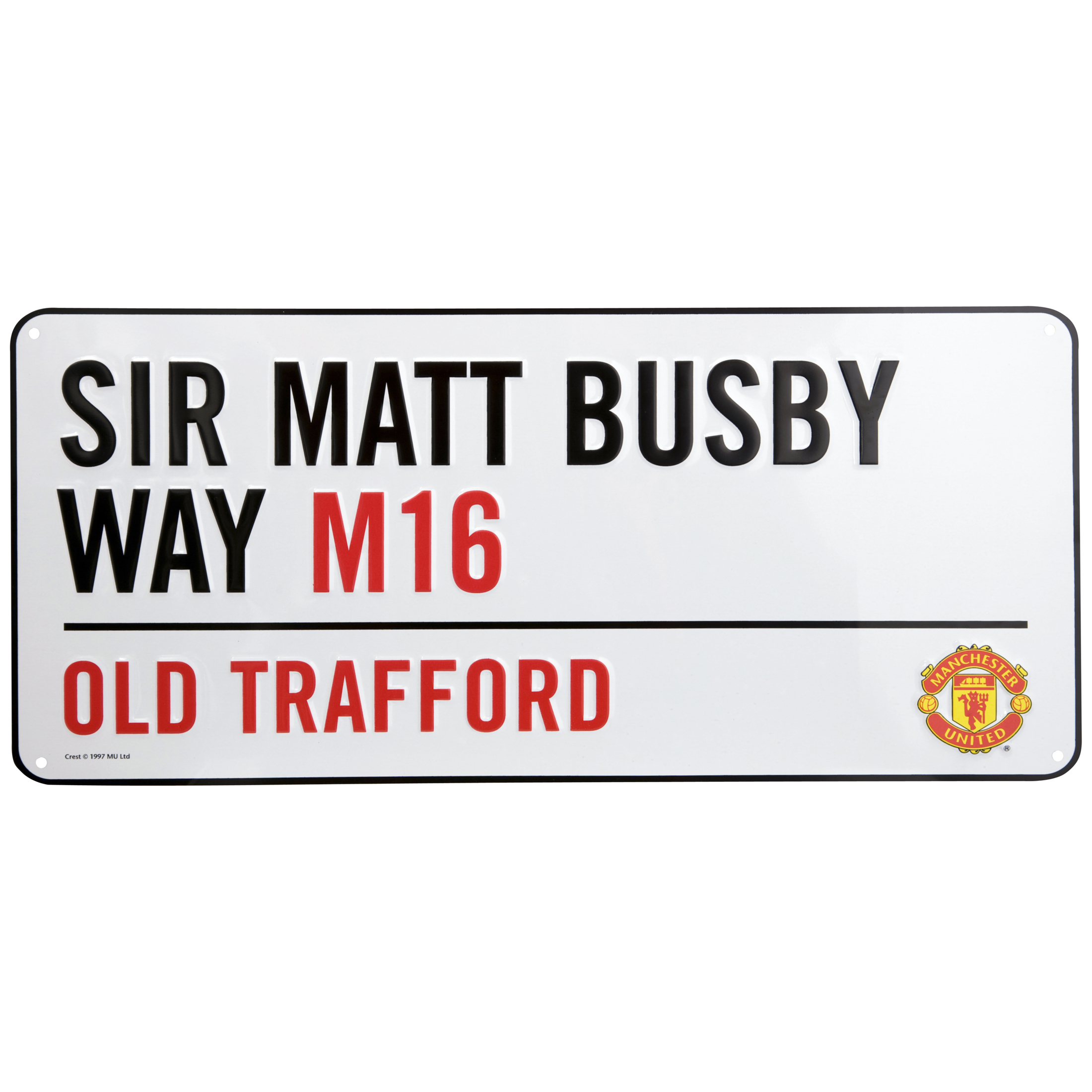 Manchester United Sir Matt Busby Way Street Sign