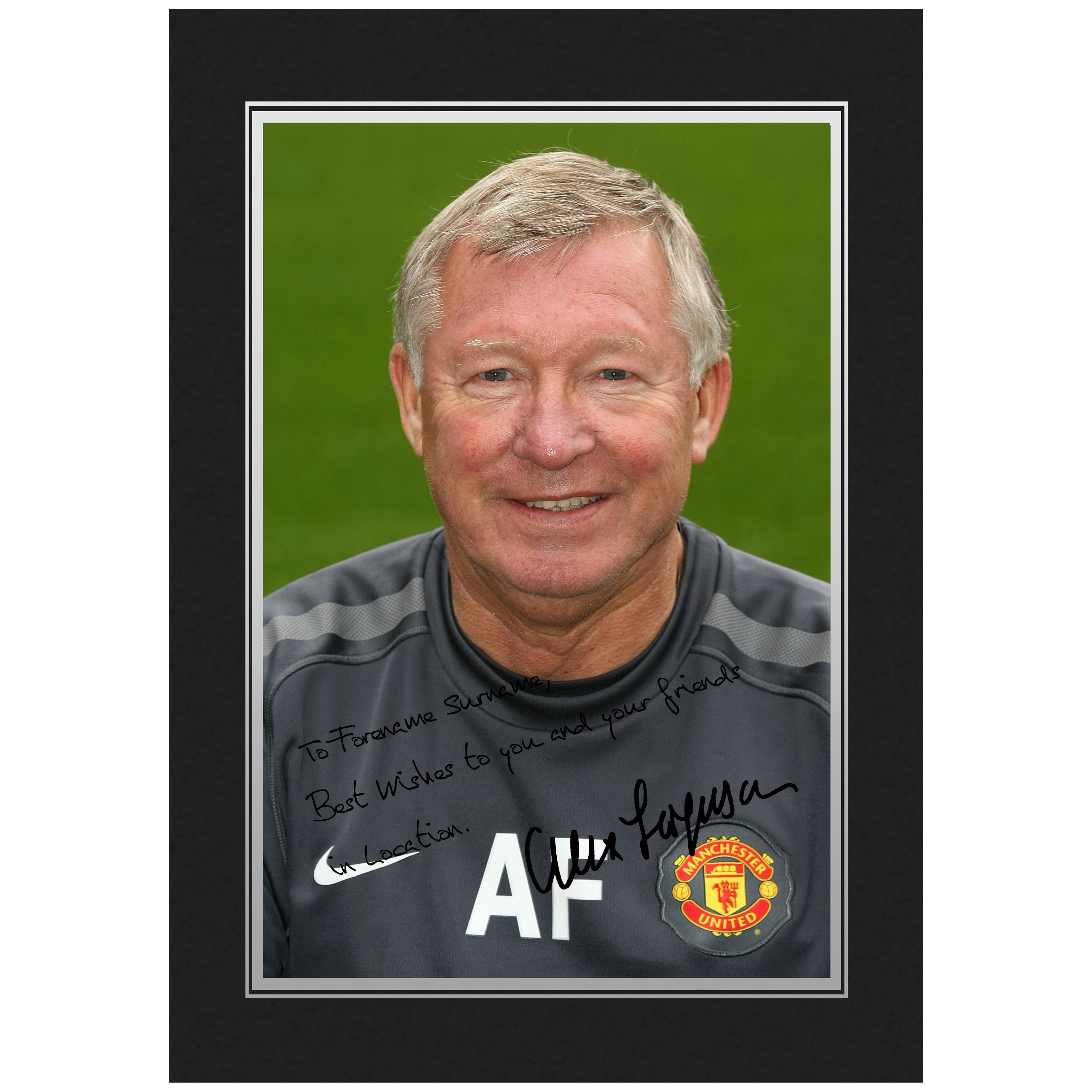 Manchester United Personalised Signature Photo In Presentation Folder - Alex Ferguson