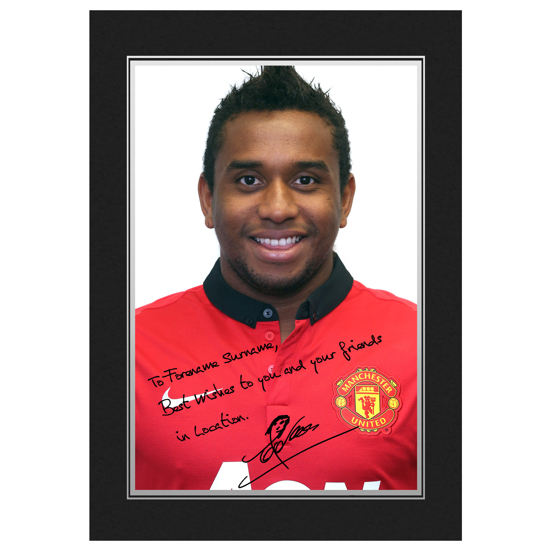 Manchester United Personalised Signature Photo In Presentation Folder - Anderson