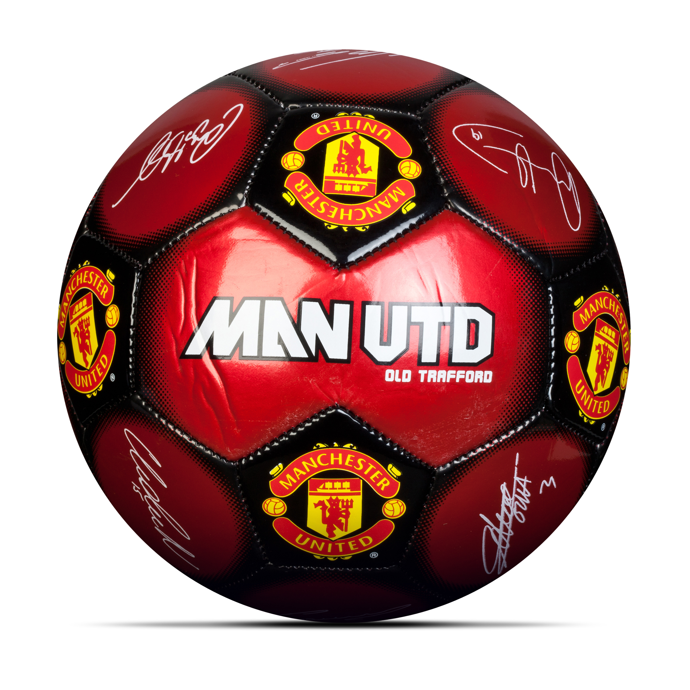 Manchester United Metallic Signature Ball - Size 5