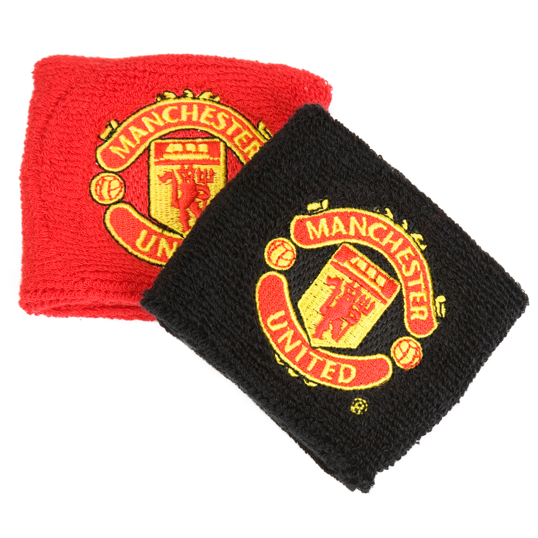 Manchester United Rubber Crest Wristband - Red/Black
