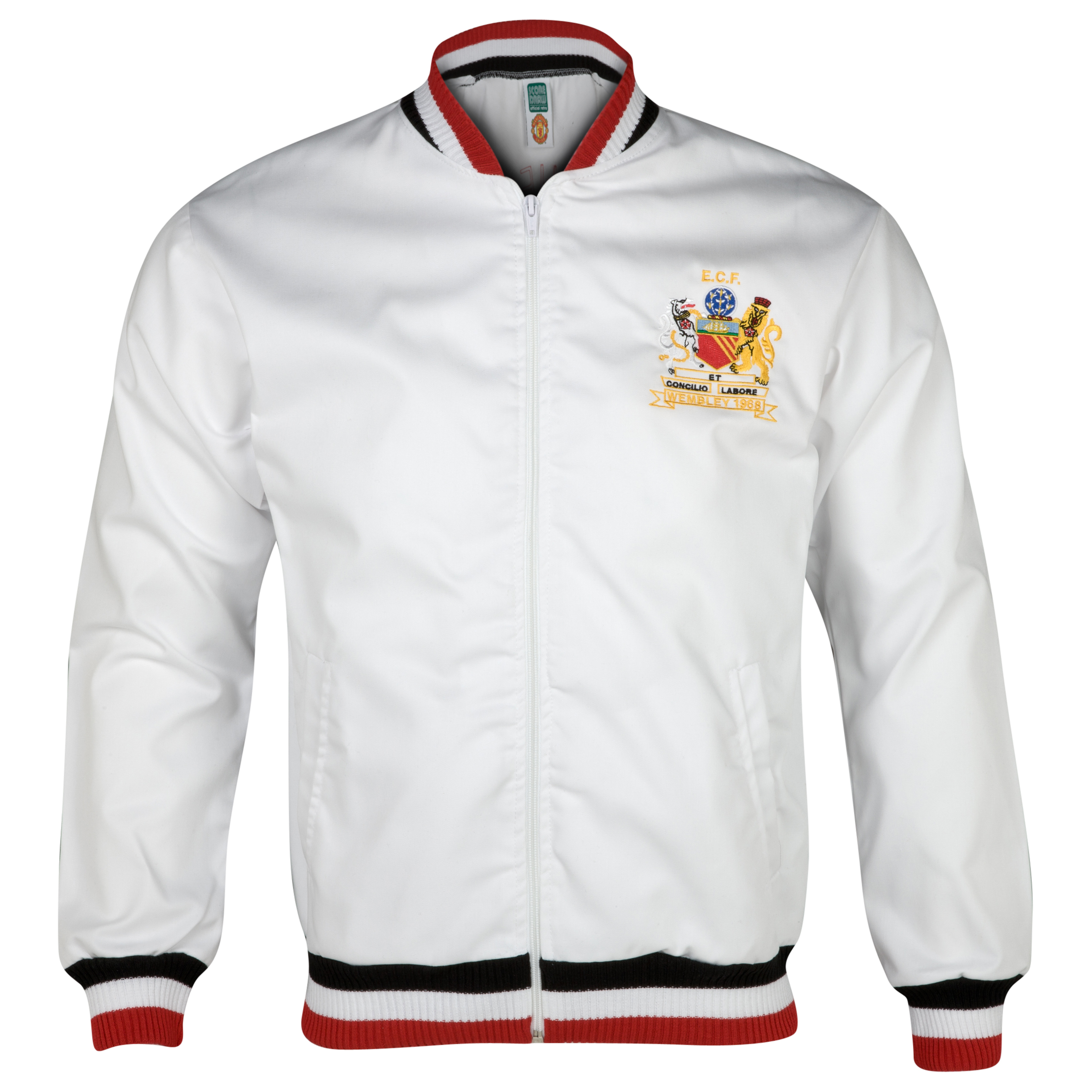 Manchester United 1968 European Cup Final Track Jacket  White