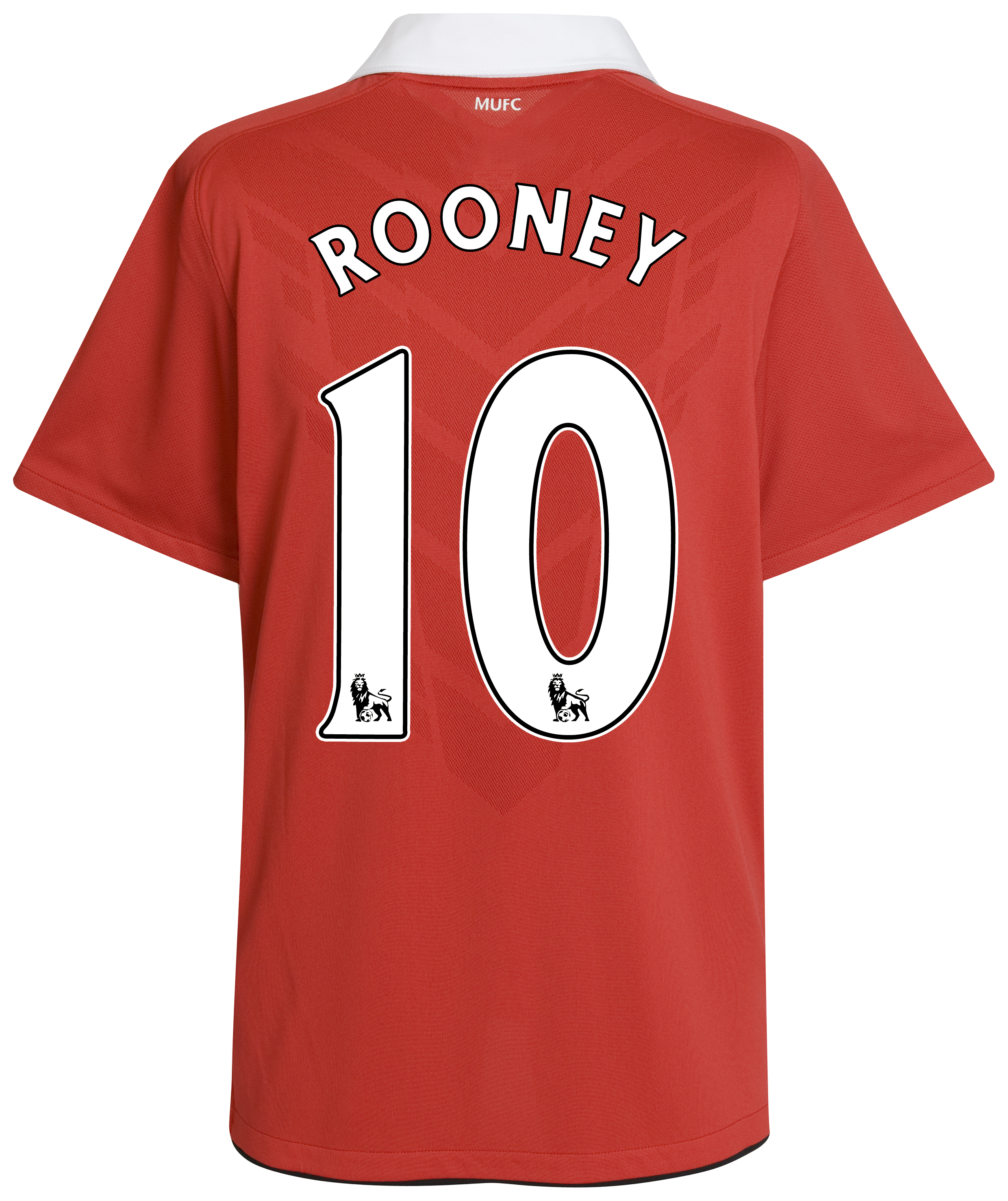 Manchester United Home Shirt 2010/11 with Rooney 10 printing