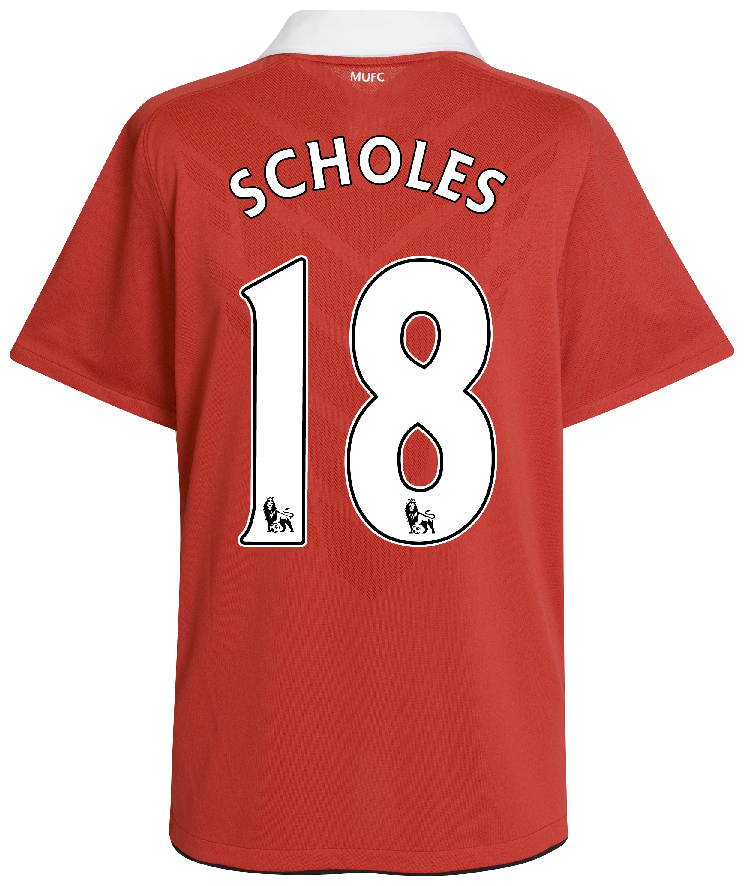 Manchester United Home Shirt 2010/11 with Scholes 18 printing