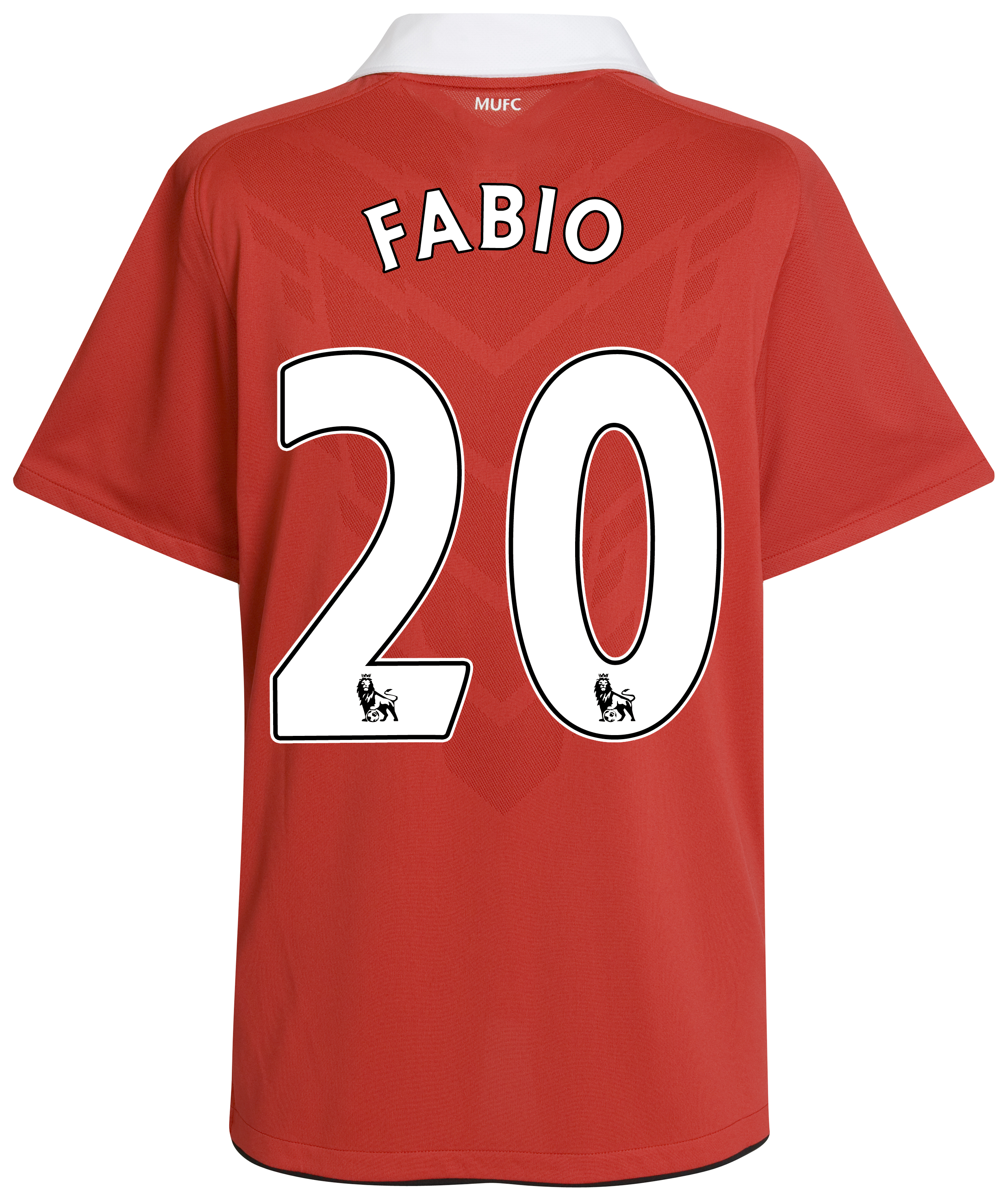 Manchester United Home Shirt 2010/11 with Fabio 20 printing
