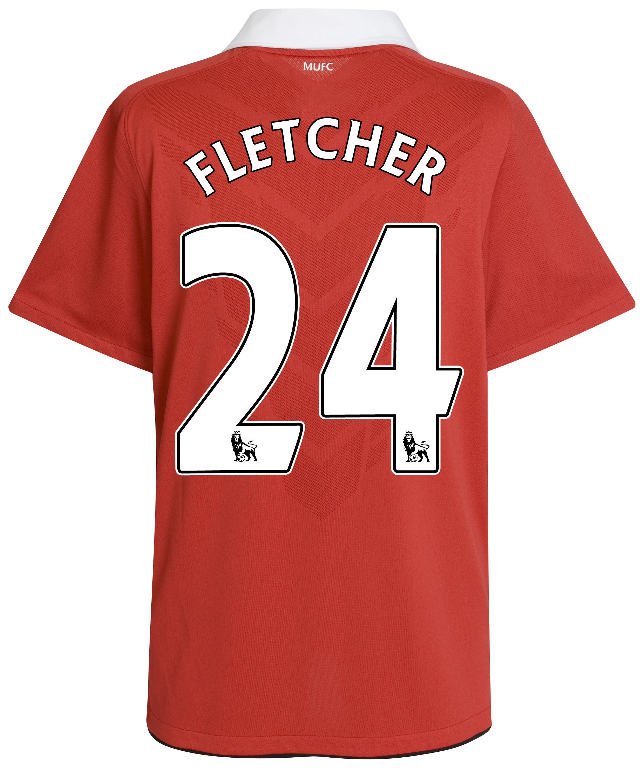 Manchester United Home Shirt 2010/11 with Fletcher 24 printing