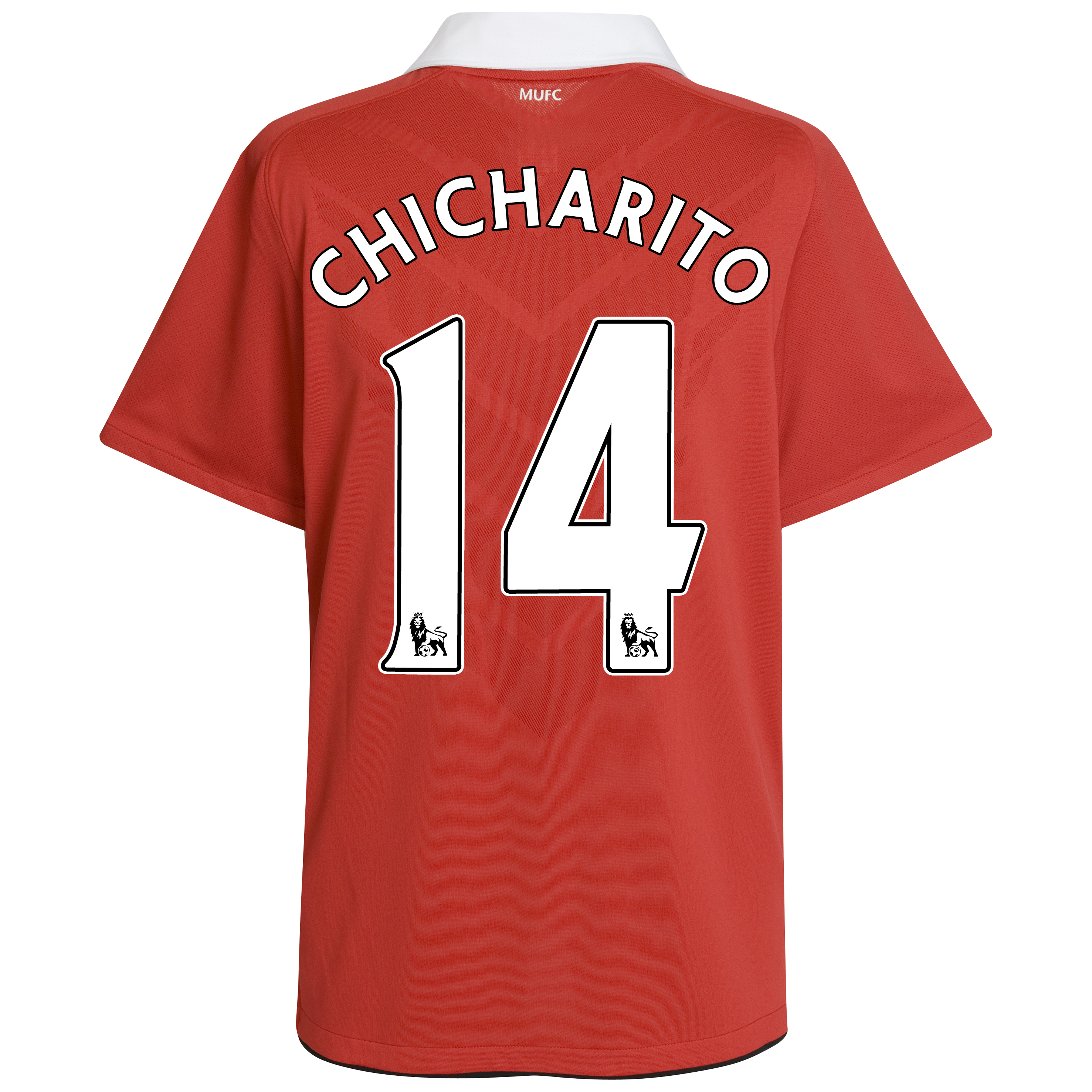 Manchester United Home Shirt 2010/11 with Chicharito 14 printing