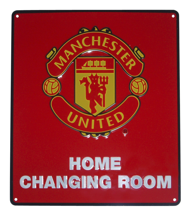 Manchester United Hme Chang Room Sign-25x22-5cm