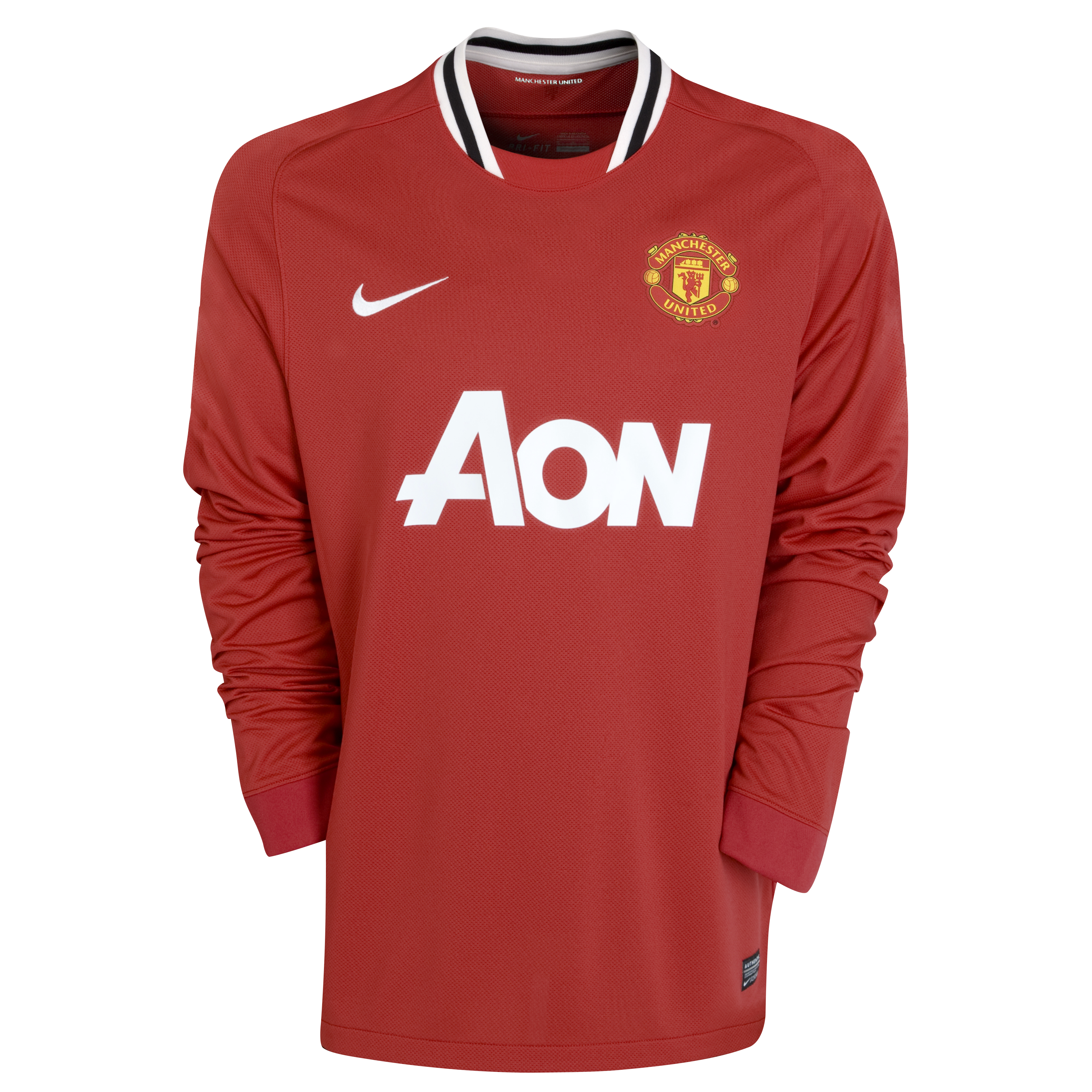 Manchester United Home Shirt 2011/12 - Long Sleeved - Kids