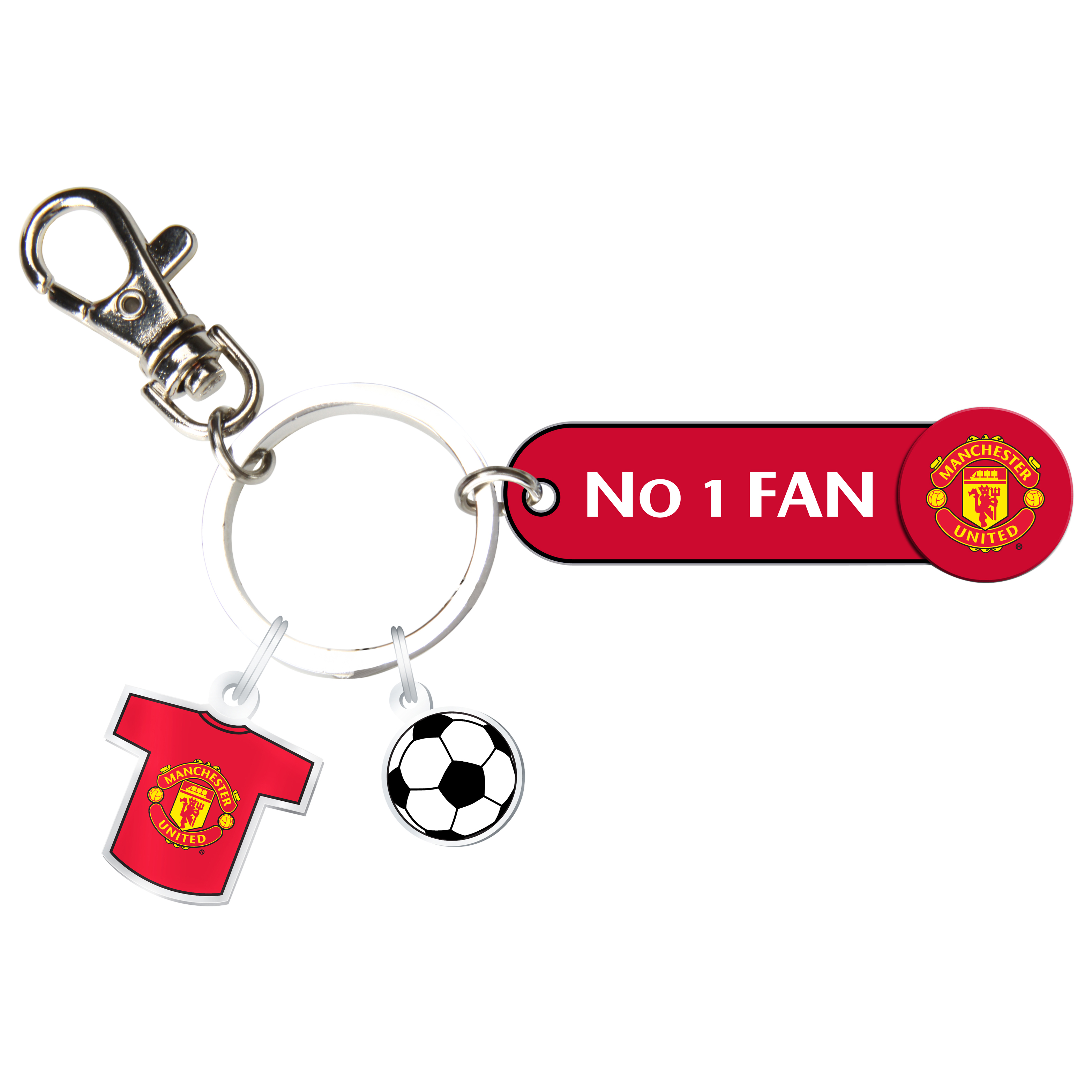 Manchester United No 1 Fan Bag Charm