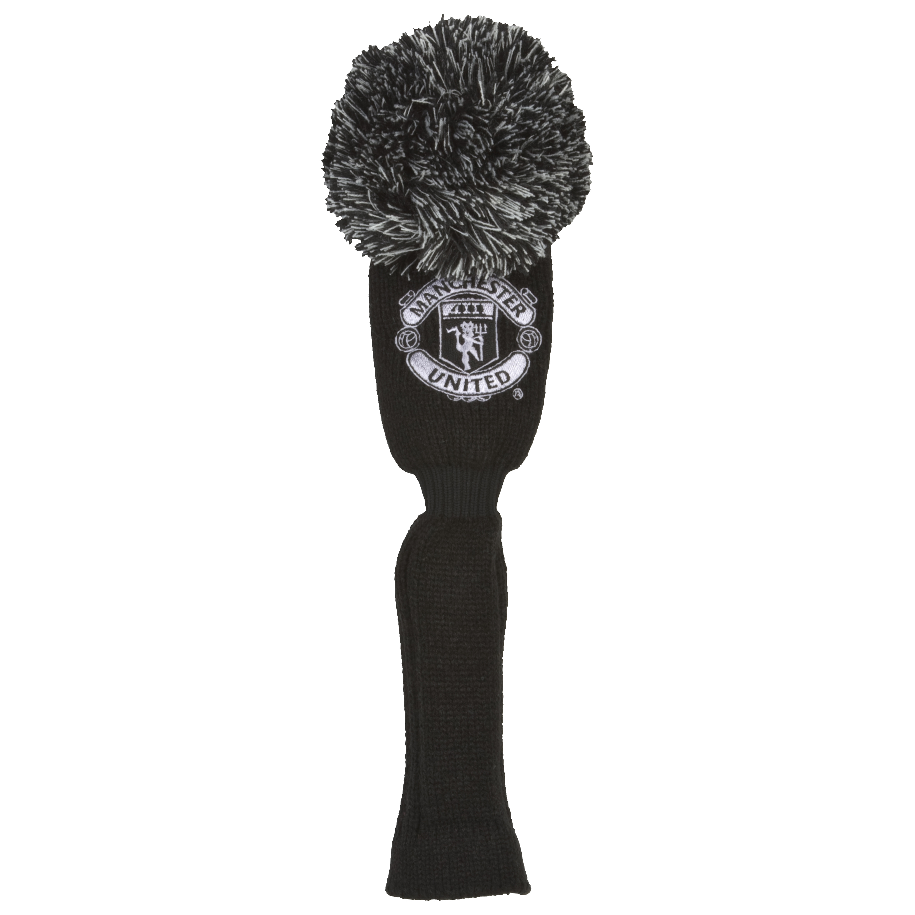 Manchester United Pompom Driver Head Cover - Black/Silver