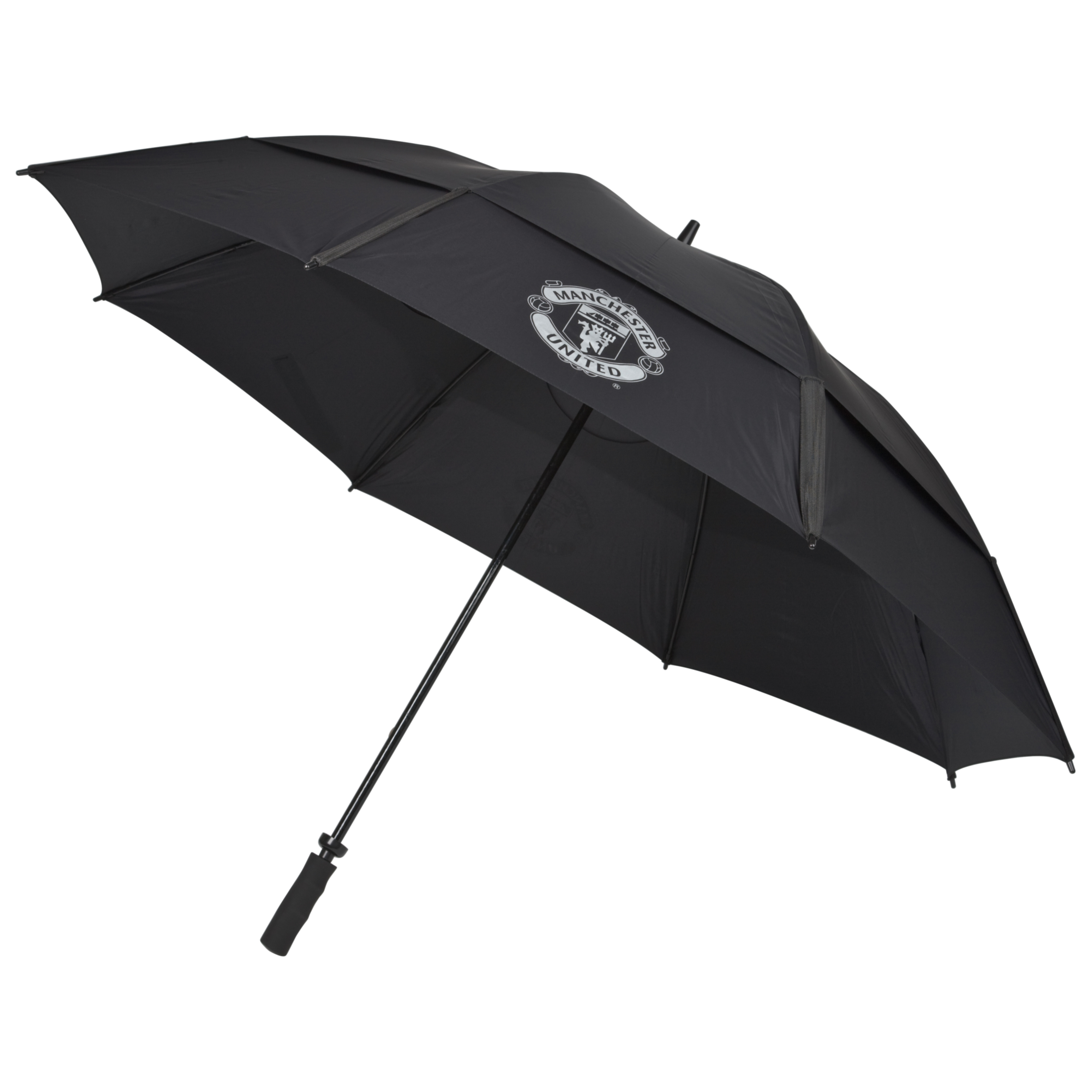 Manchester United Double Canopy Umbrella - Black/Silver