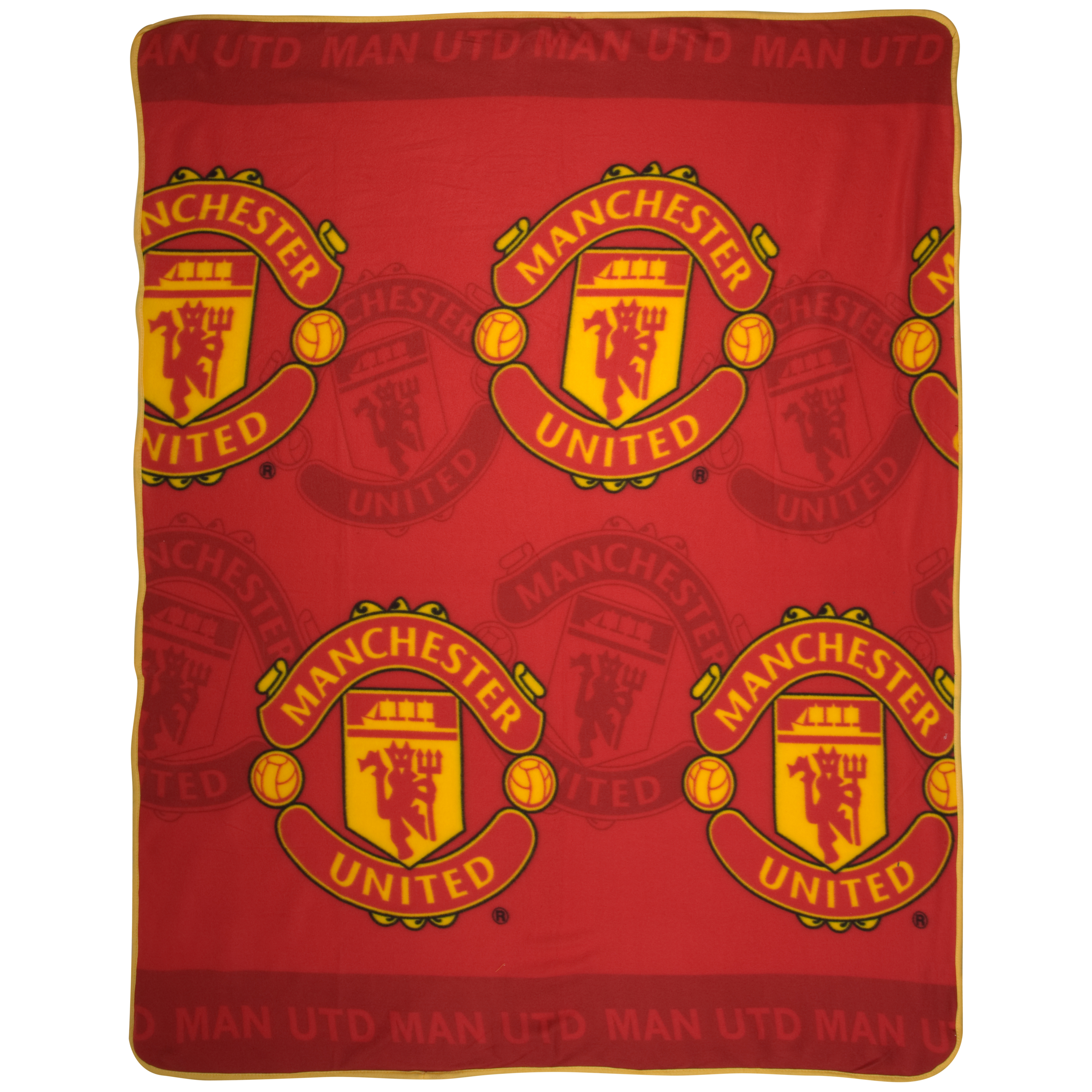 Manchester United Crest Fleece Blanket