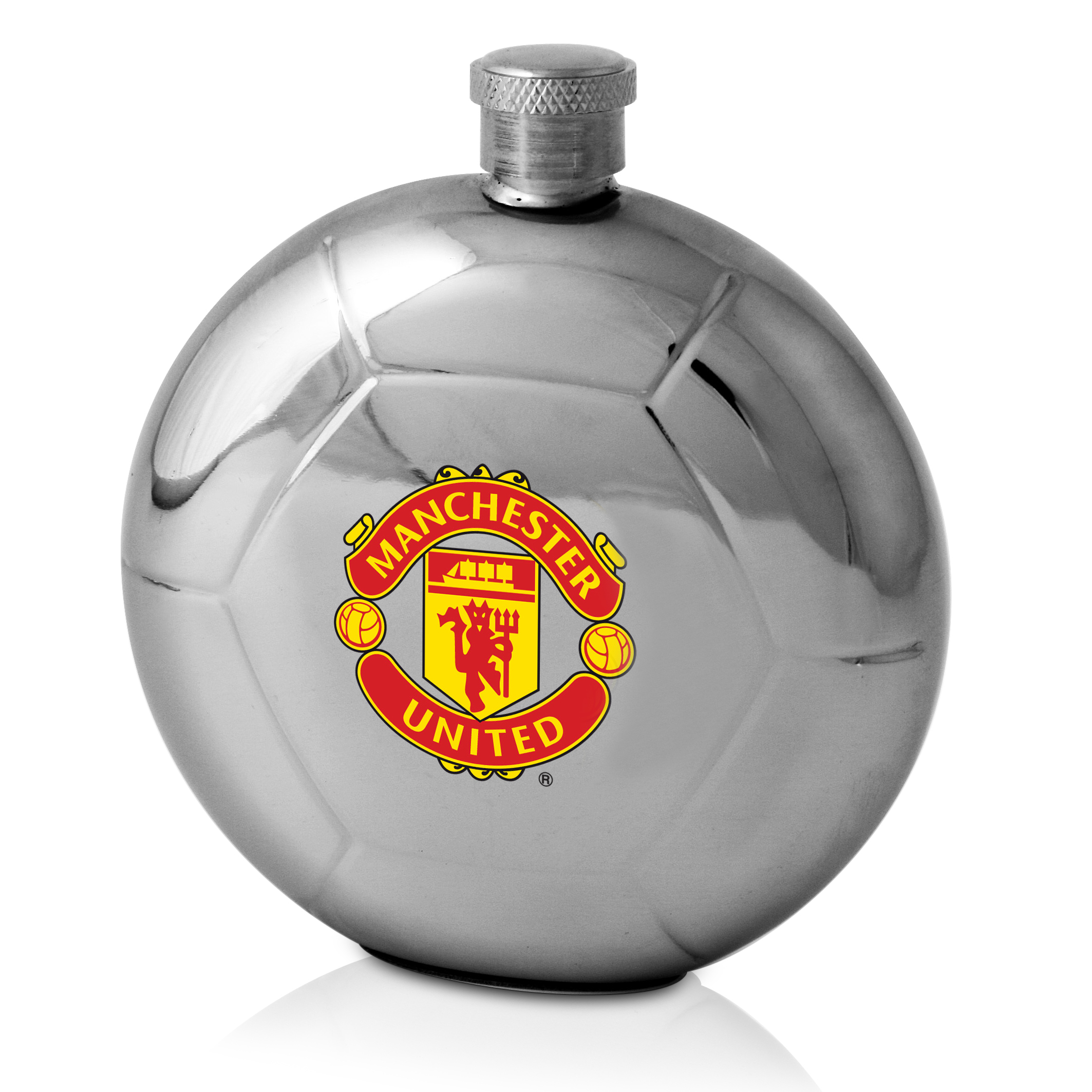 Manchester United Football Shaped Hip Flask