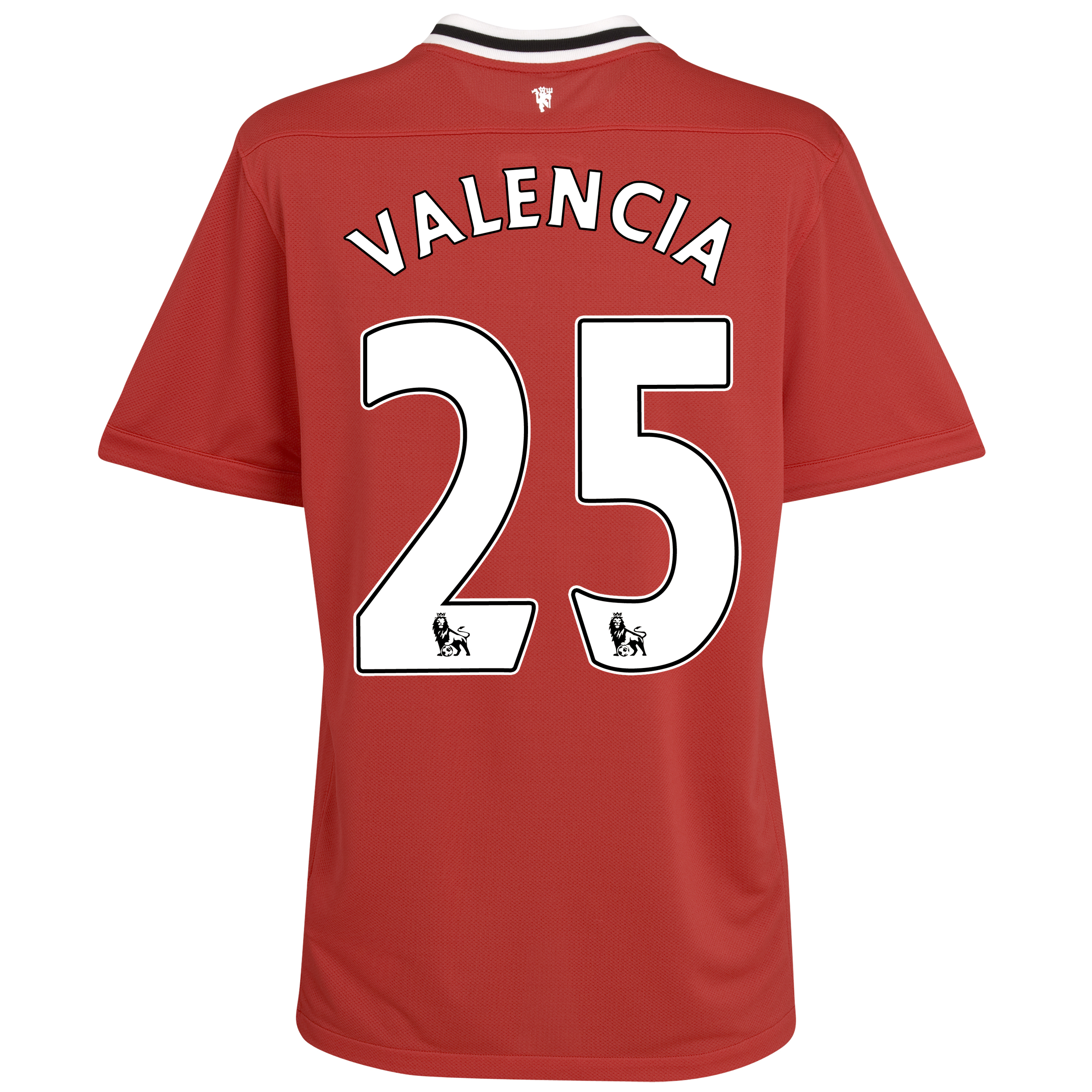 Manchester United Home Shirt 2011/12 with Valencia 25 printing