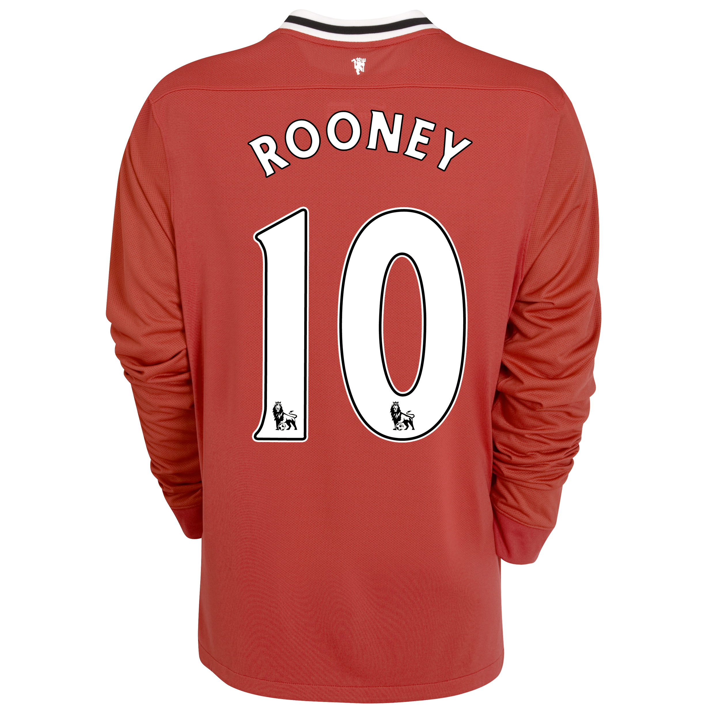 Manchester United Home Shirt 2011/12 - Long Sleeved - Kids with Rooney 10 printing