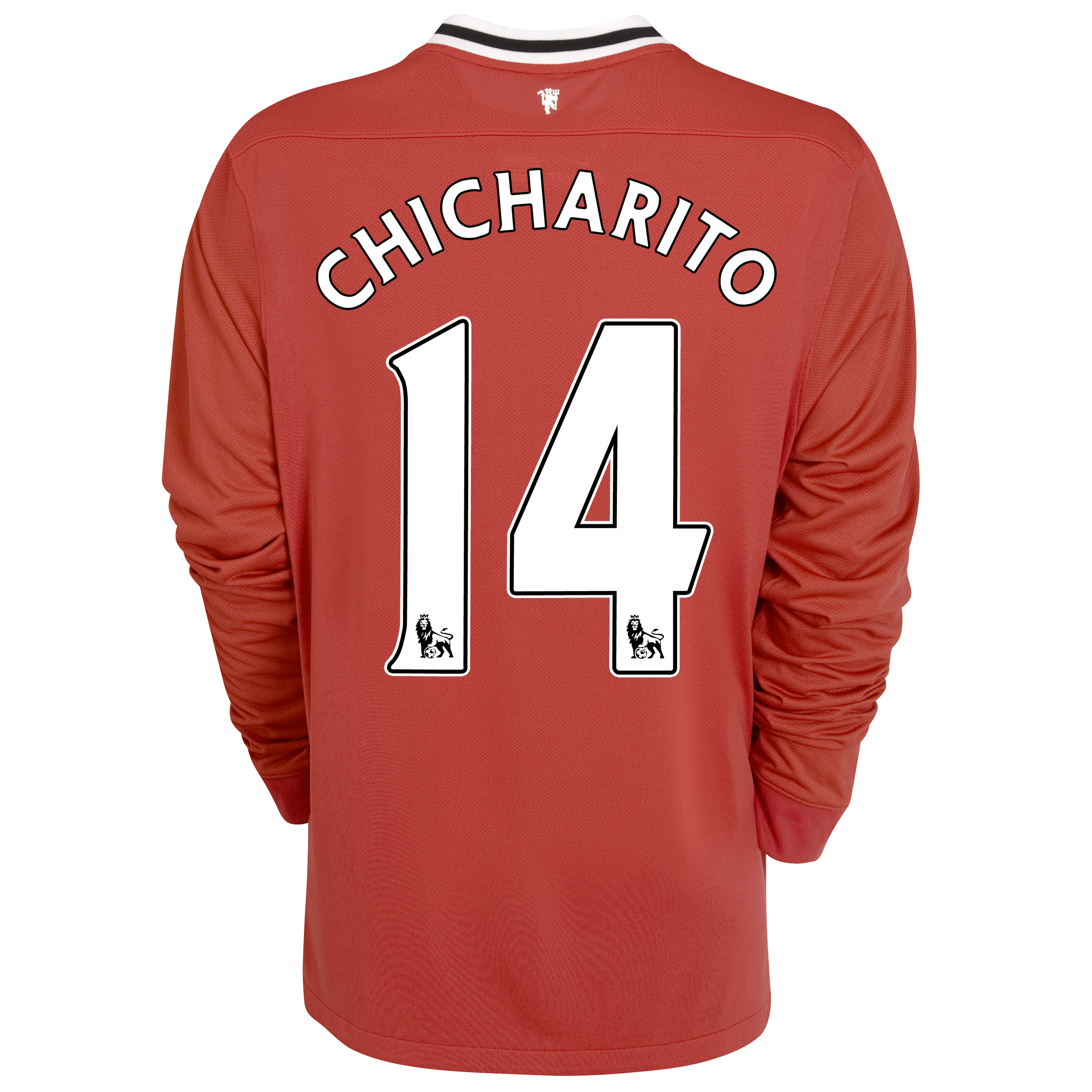 Manchester United Home Shirt 2011/12 - Long Sleeved - Kids with Chicharito 14 printing