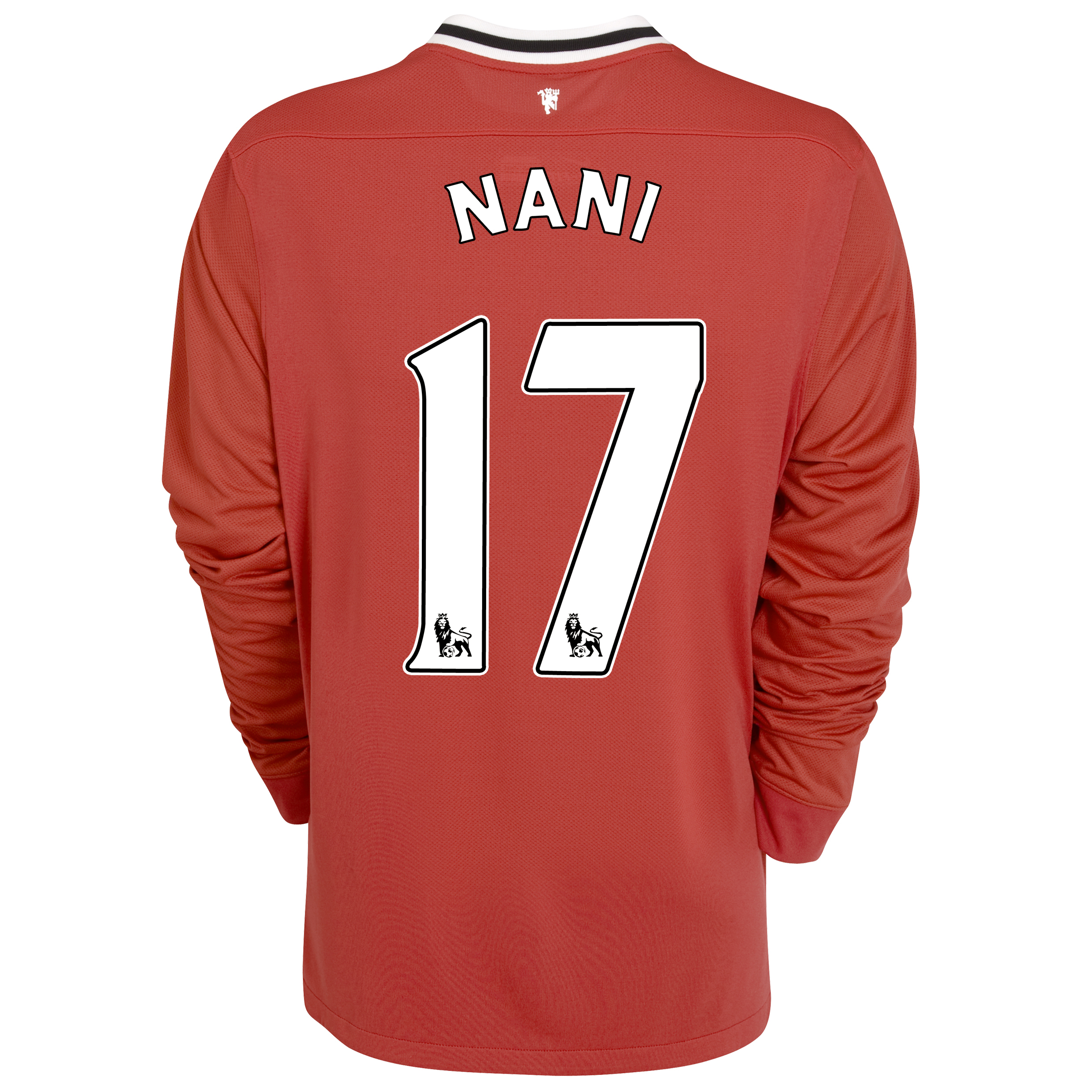 Manchester United Home Shirt 2011/12 - Long Sleeved - Kids with Nani 17 printing