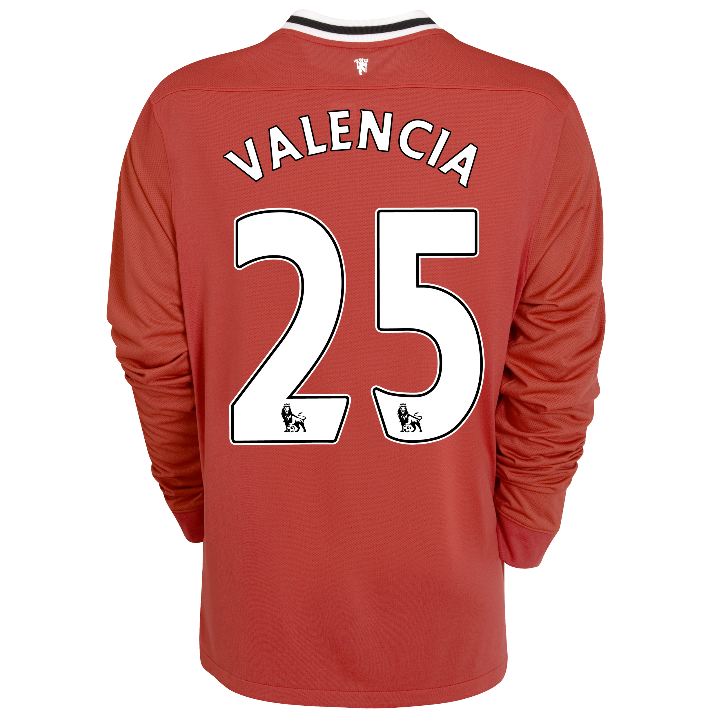 Manchester United Home Shirt 2011/12 - Long Sleeved - Kids with Valencia 25 printing