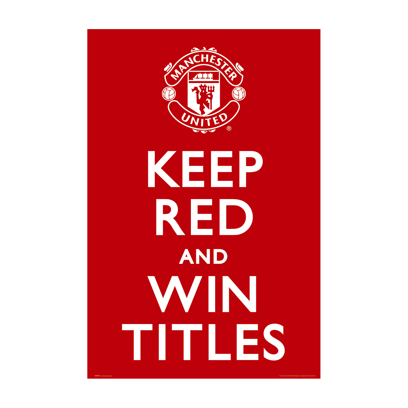 Manchester United Keep Red Poster - 61 x 92cm