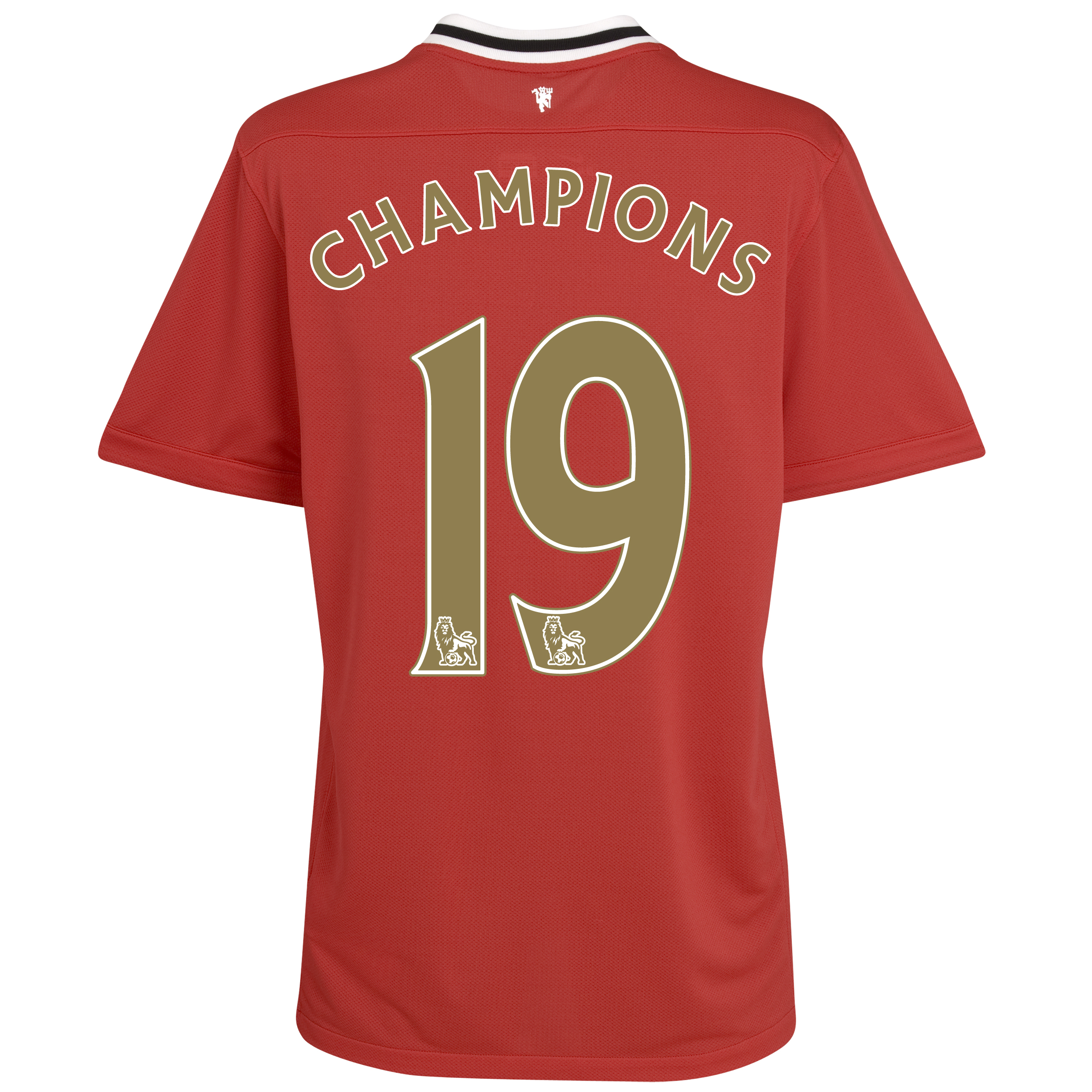 Manchester United Home Shirt 2011/12 with Champions 19 printing