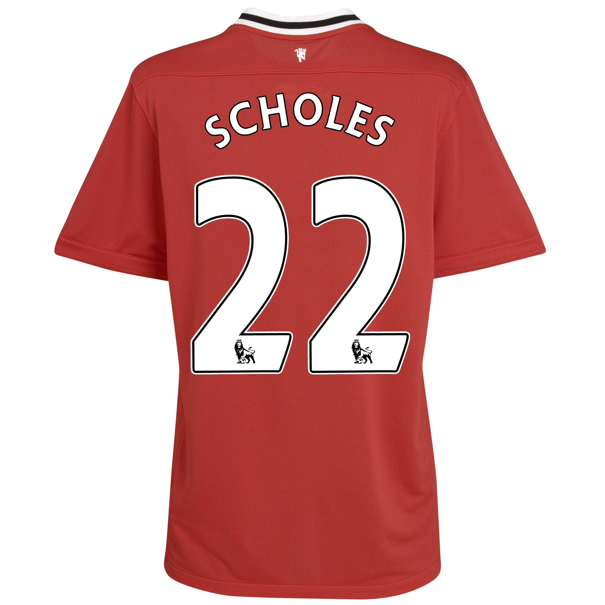 Manchester United Home Shirt 2011/12 - Kids with Scholes 22 printing