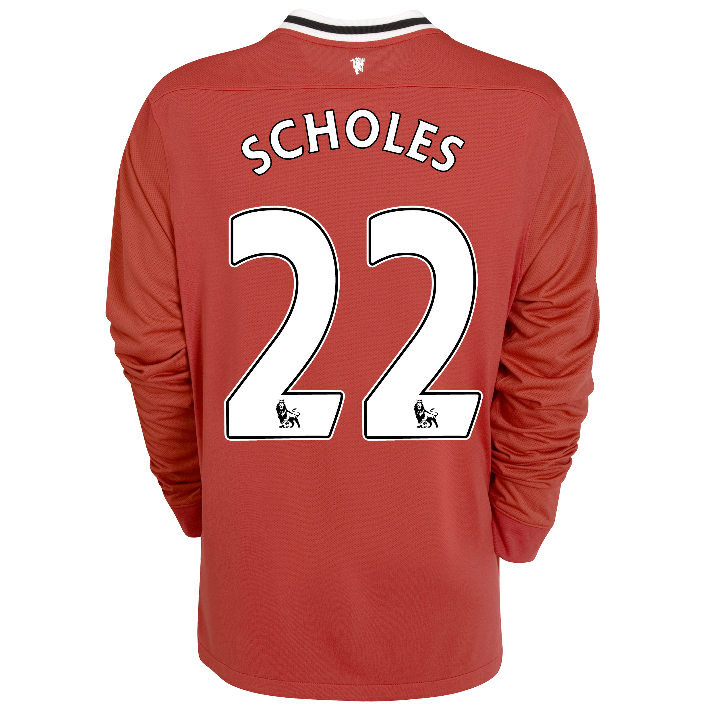 Manchester United Home Shirt 2011/12 - Long Sleeved - Kids with Scholes 22 printing