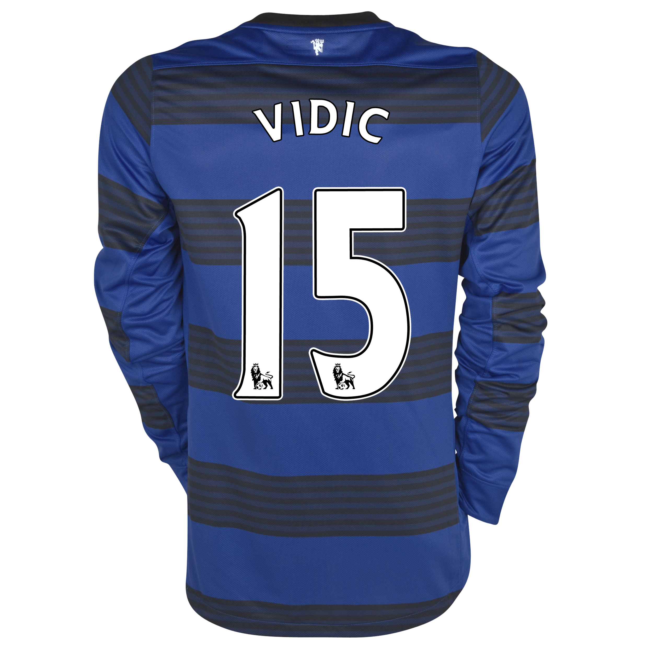 Manchester United Away Shirt 2011/12 - Long Sleeved - Kids with Vidic 15 printing
