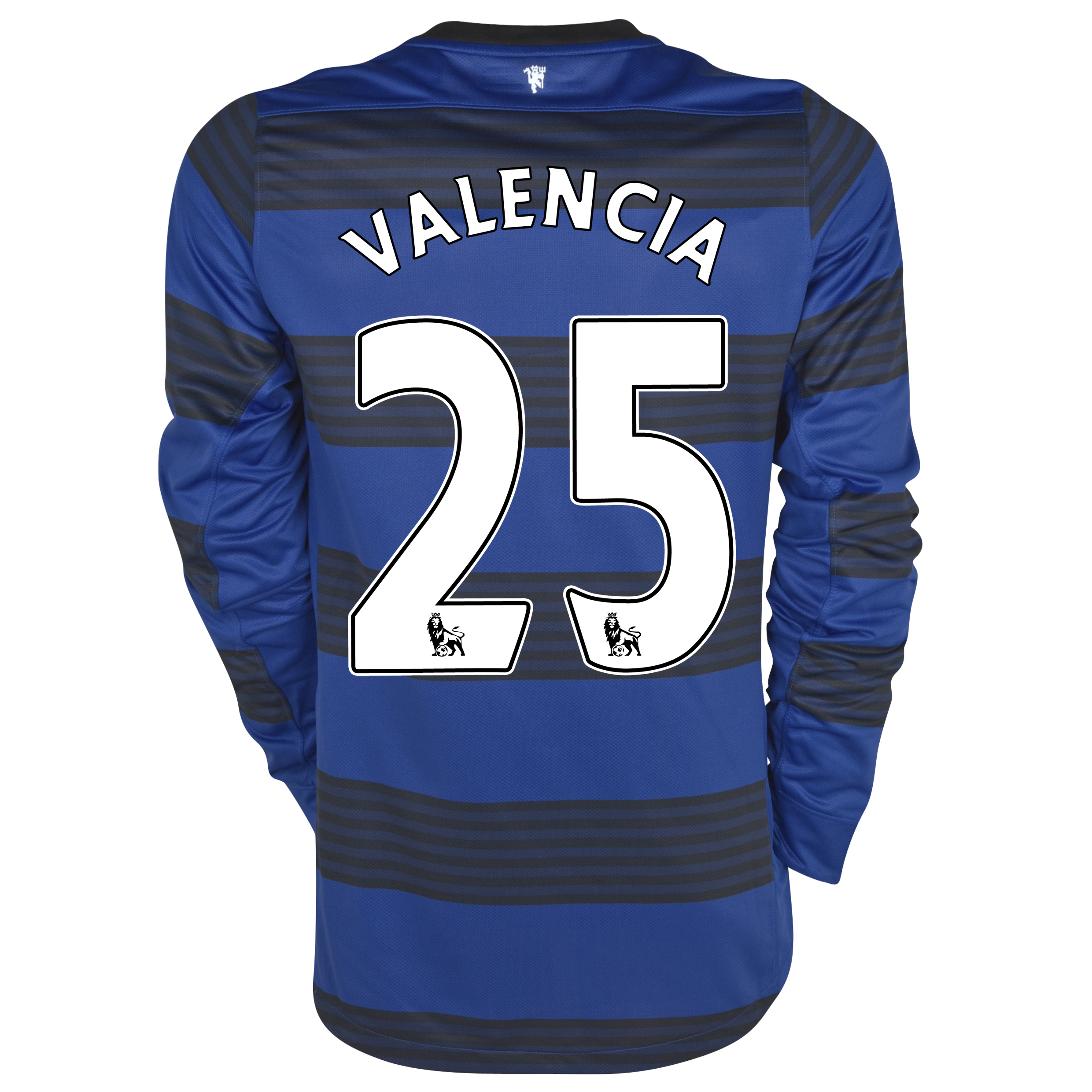 Manchester United Away Shirt 2011/12 - Long Sleeved - Kids with Valencia 25 printing