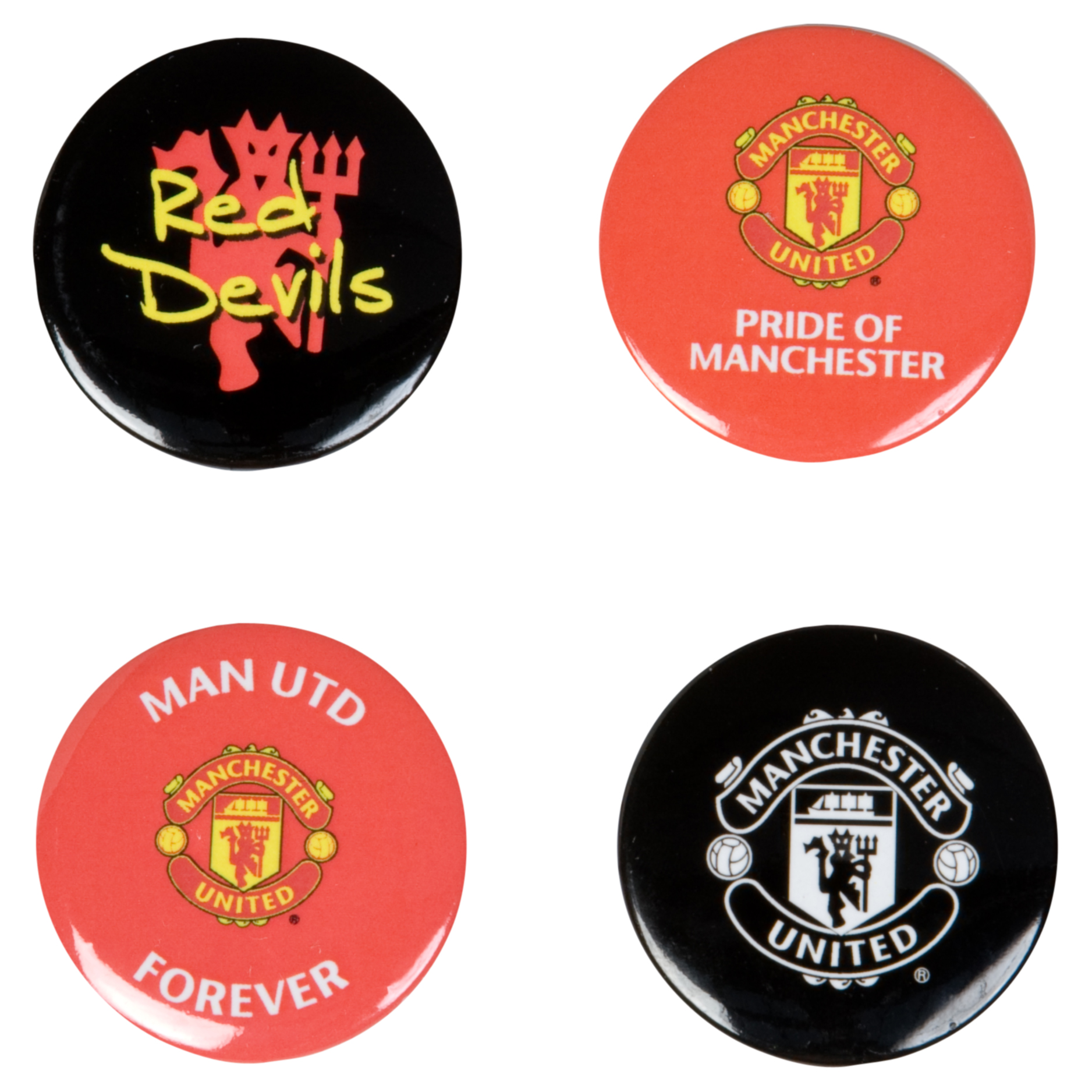 Manchester United Badge Set - 4 Pack