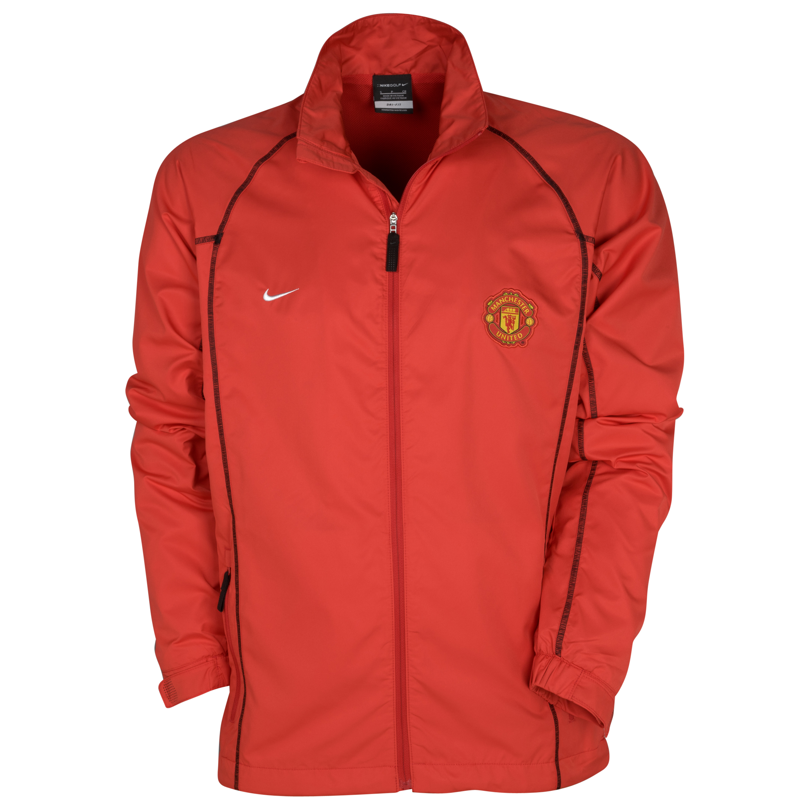 Manchester United Nike Golf Full Zip Wind Jacket - Red