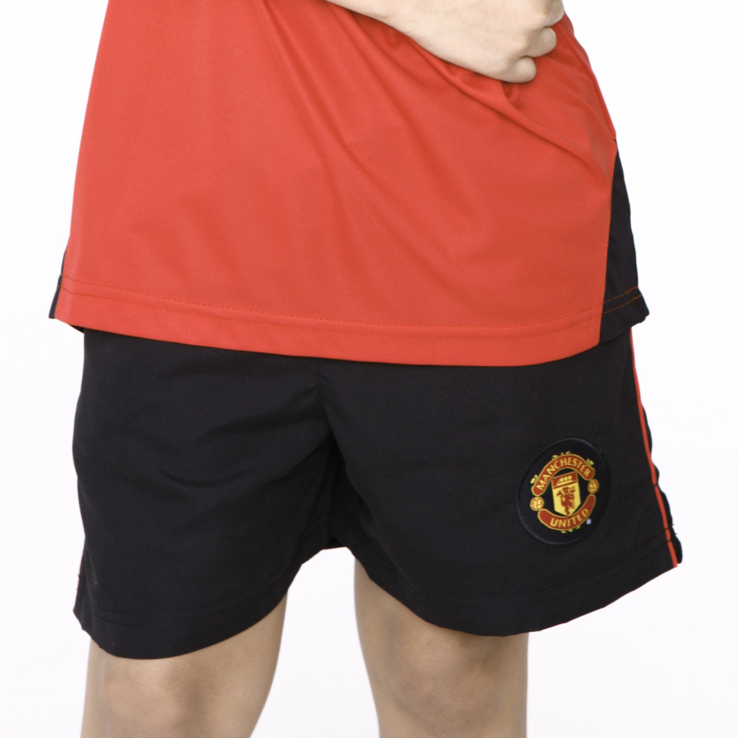 Manchester United Essentials Woven Shorts - Black - Boys