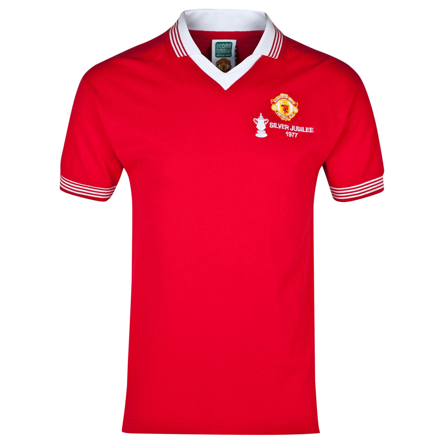 Manchester United 1977 Retro Home Shirt - Red